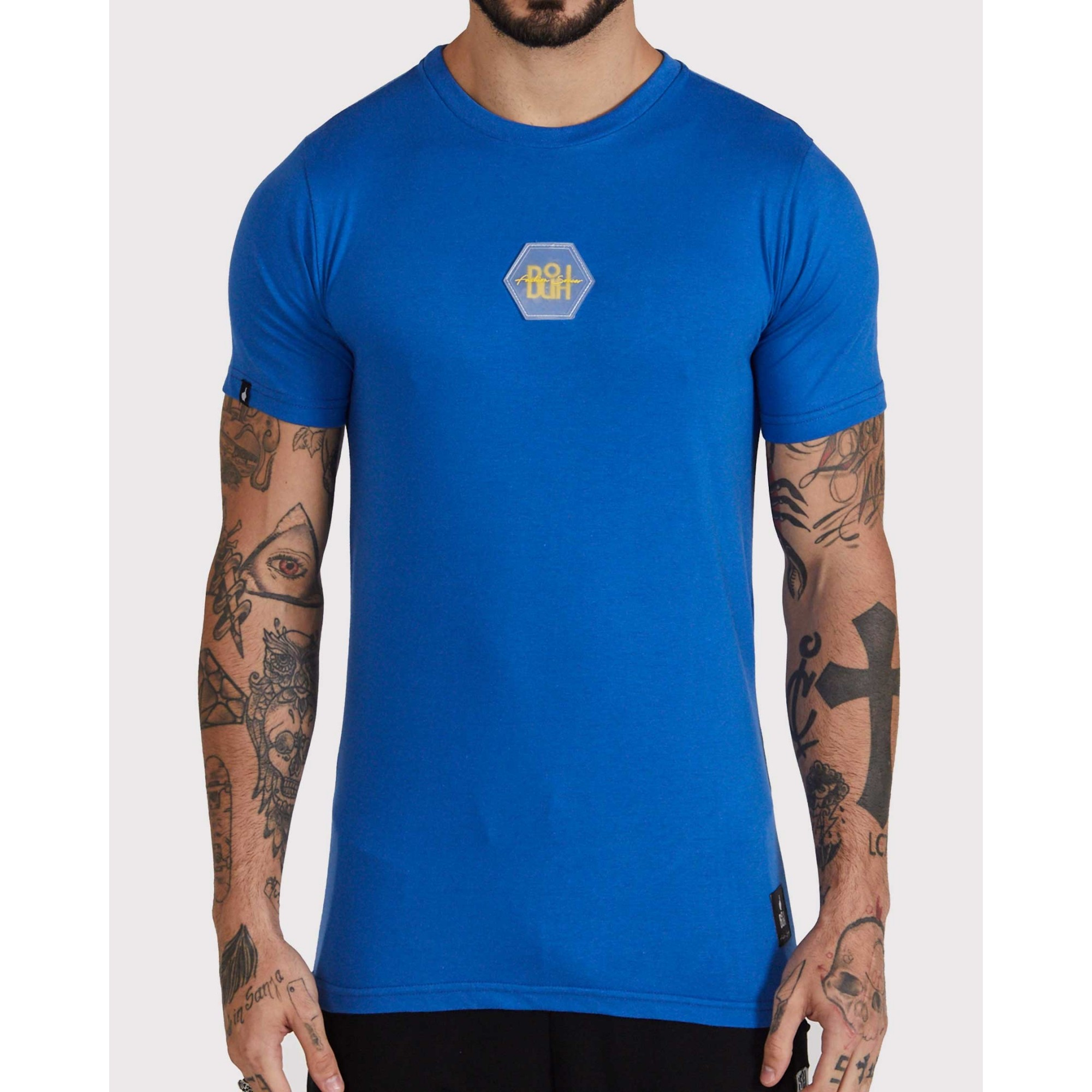 Camiseta Buh Bordado Rubber Blue