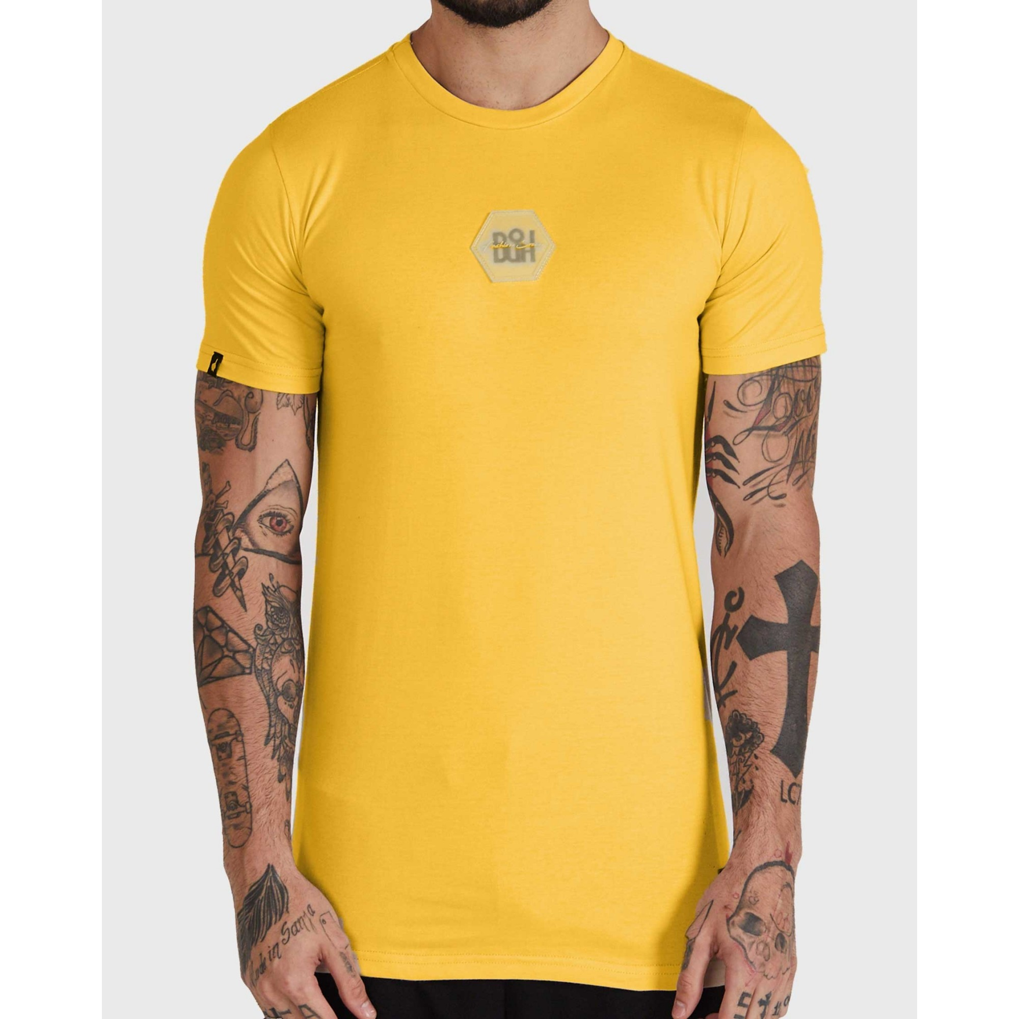 Camiseta Buh Bordado Rubber Yellow