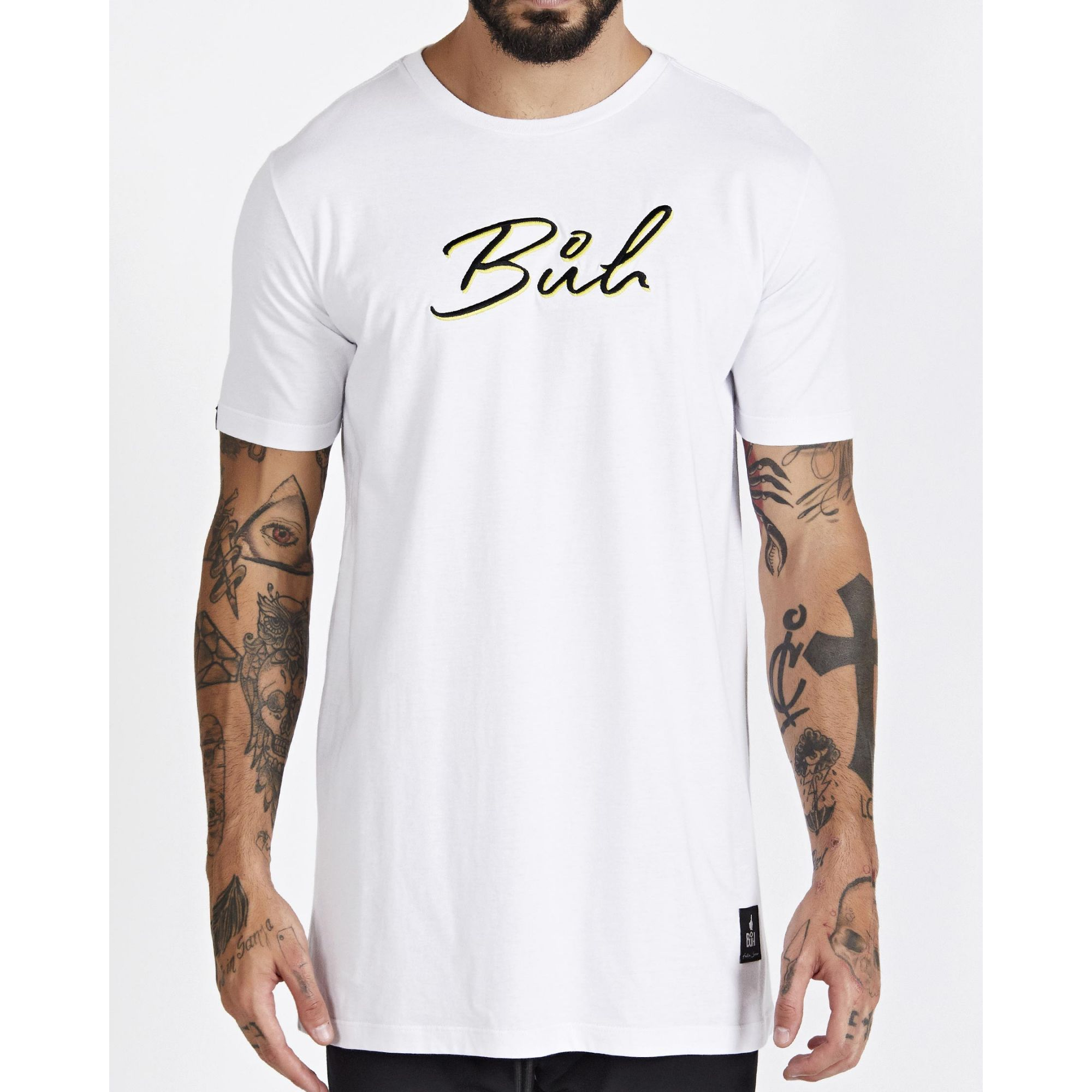 Camiseta Buh Bordado White