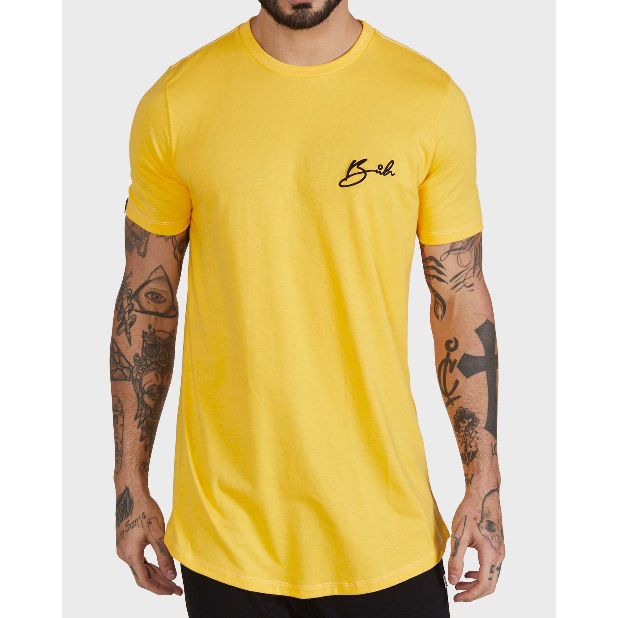 Camiseta Buh Bordado Yellow
