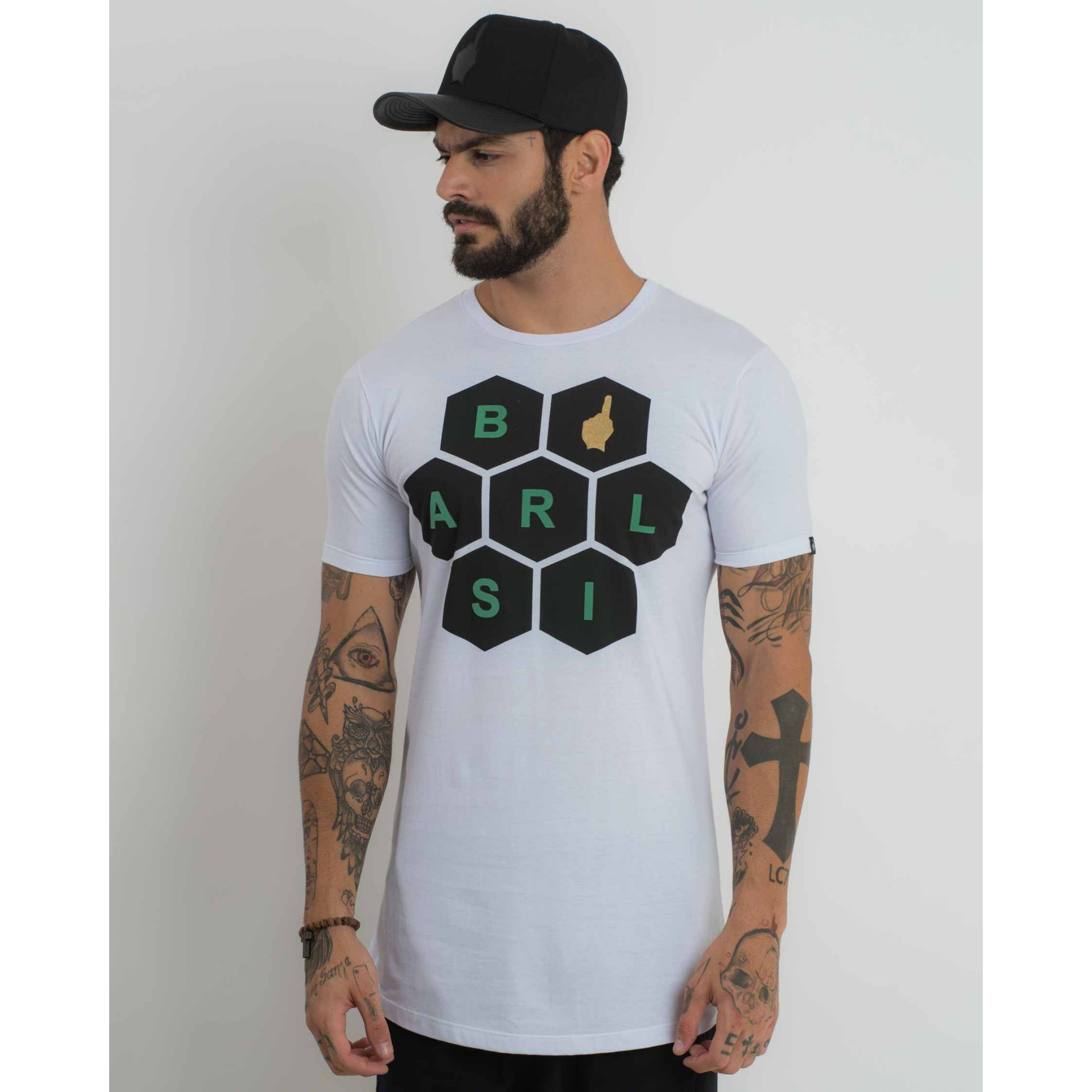 Camiseta Buh Brasil Soccer Time White