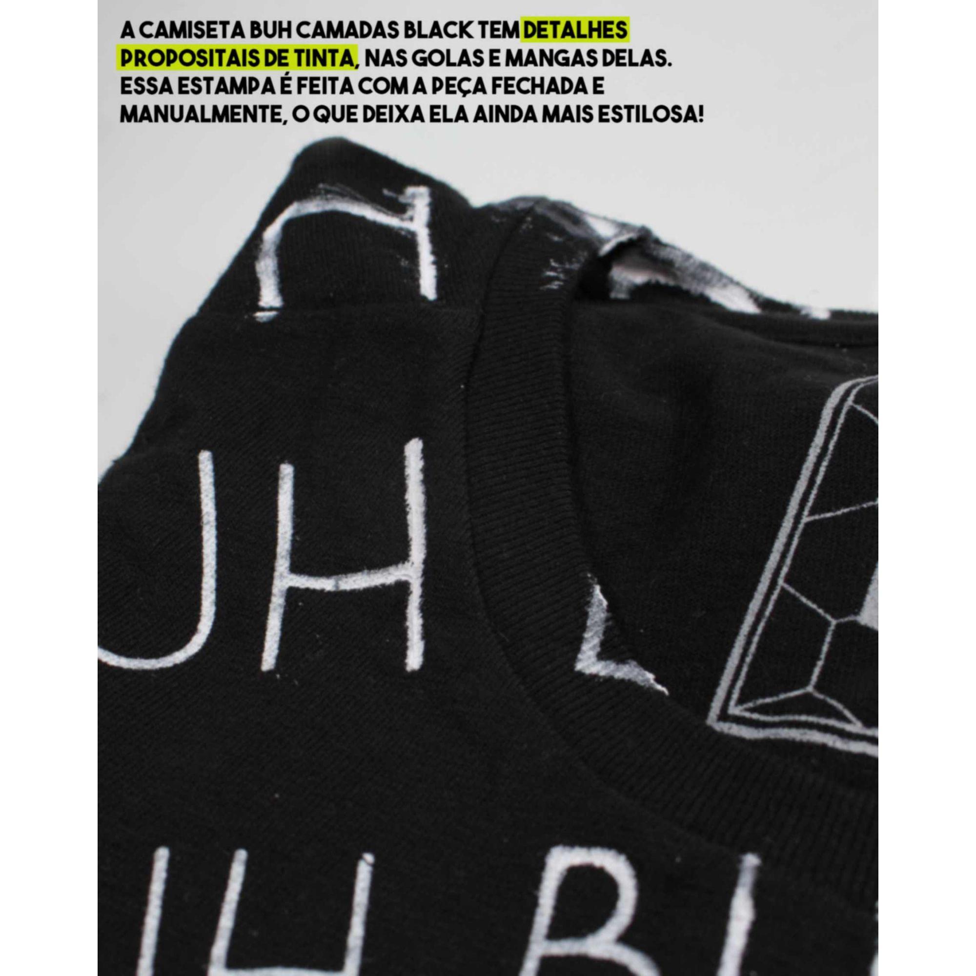 Camiseta Buh Camadas Black