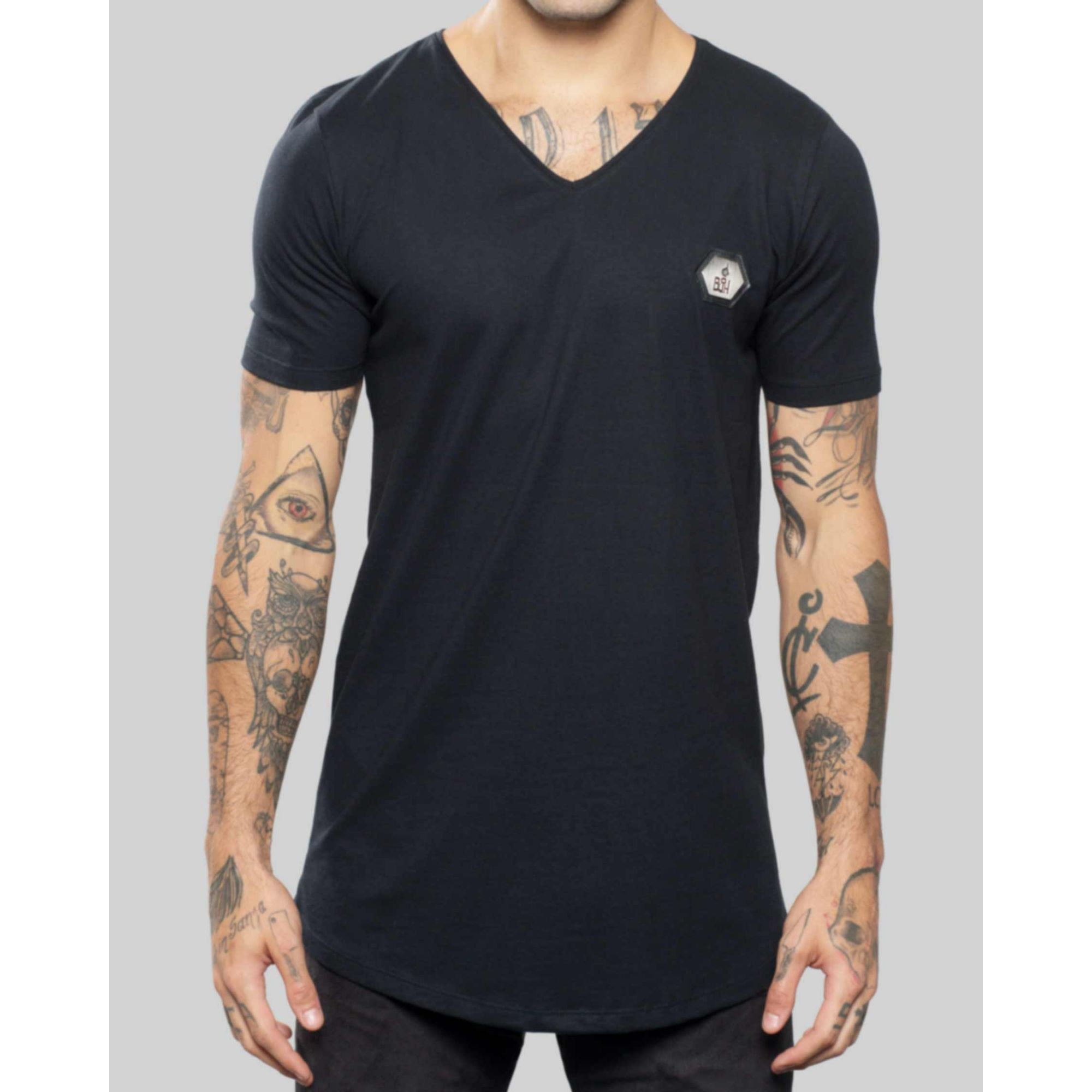 Camiseta Buh Camo Geometric Black