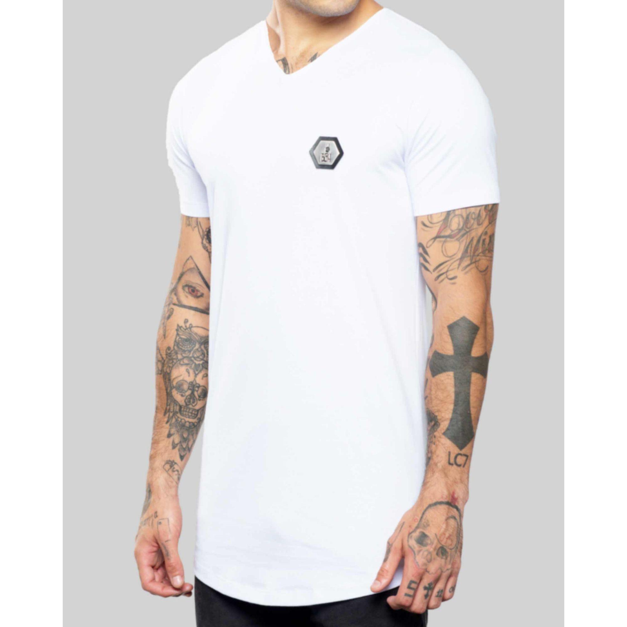 Camiseta Buh Camo Geometric White