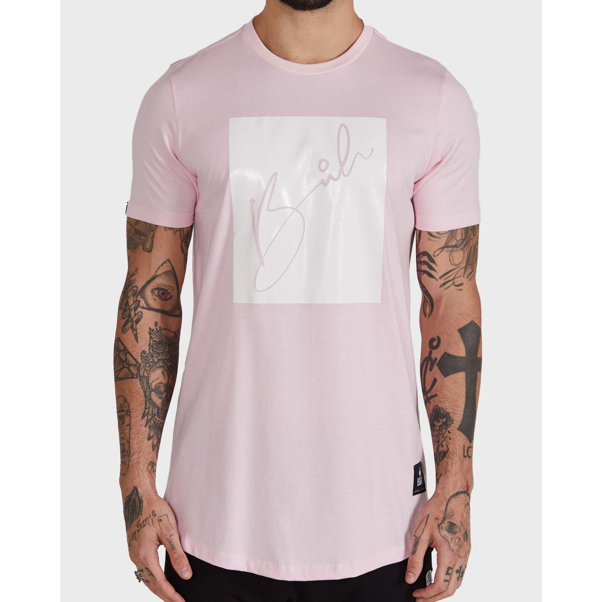 Camiseta Buh Candy Square Rose & White