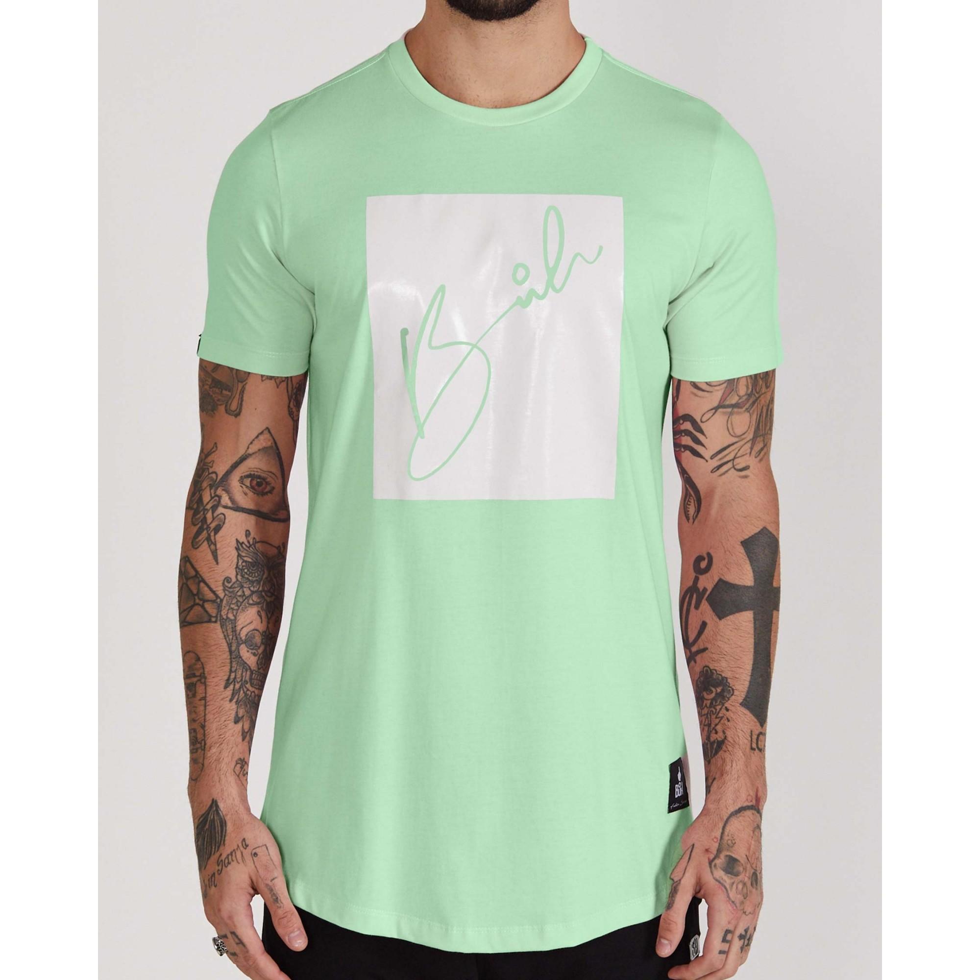 Camiseta Buh Candy Square Verde Água