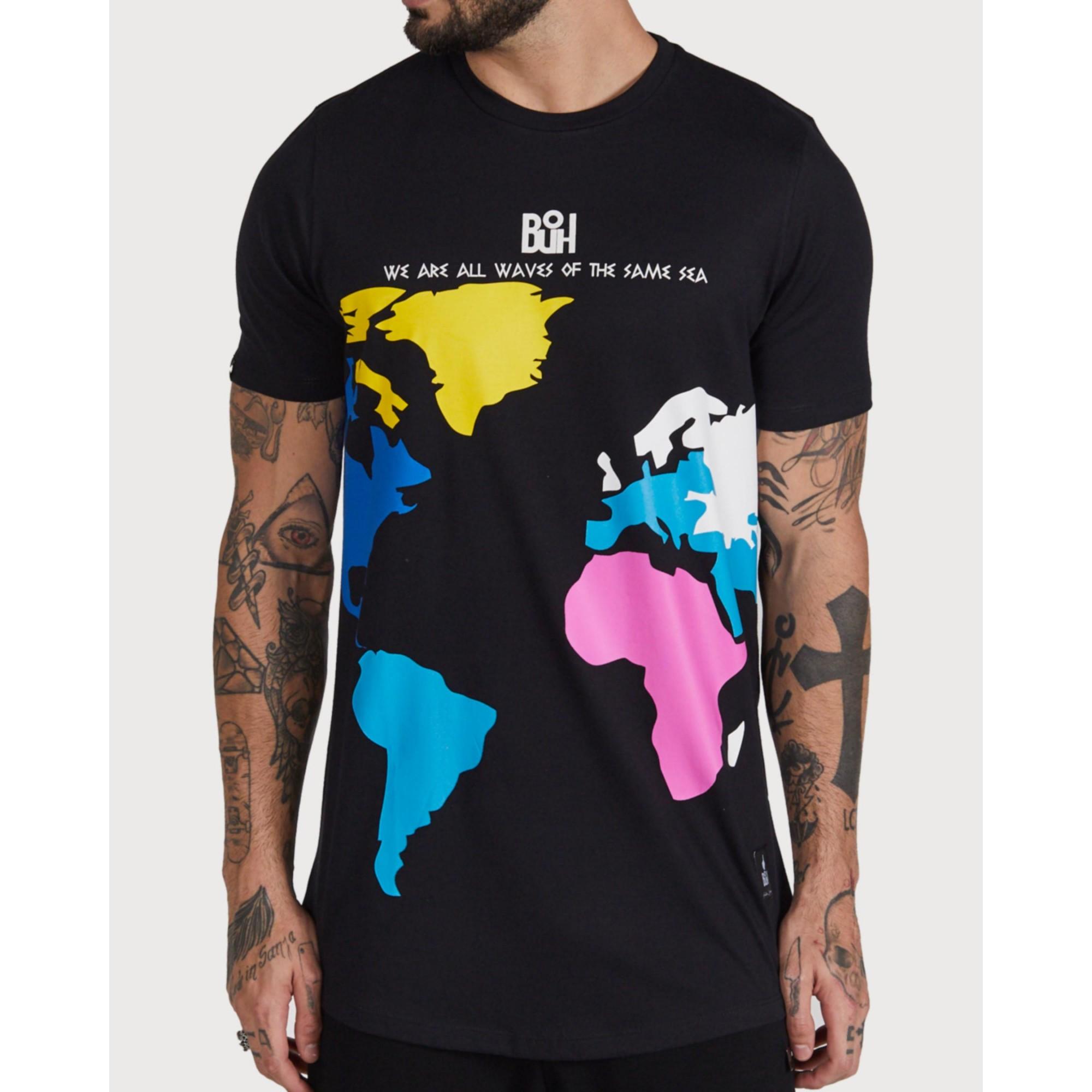 Camiseta Buh Color World Black