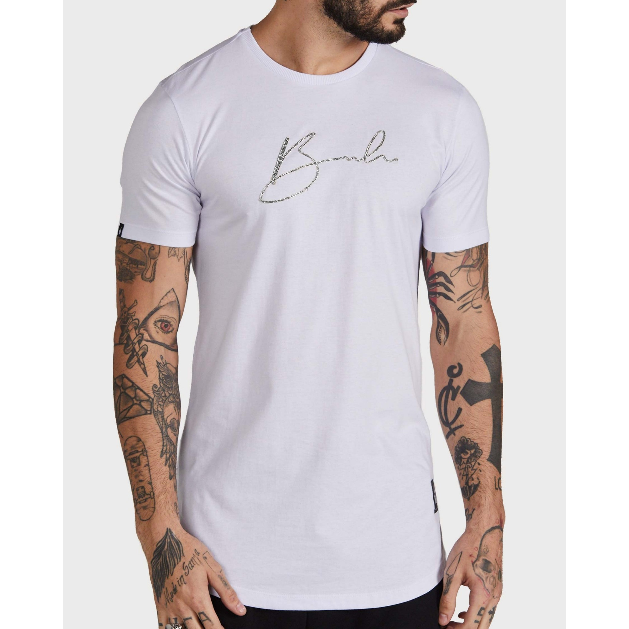 Camiseta Buh Corrido White