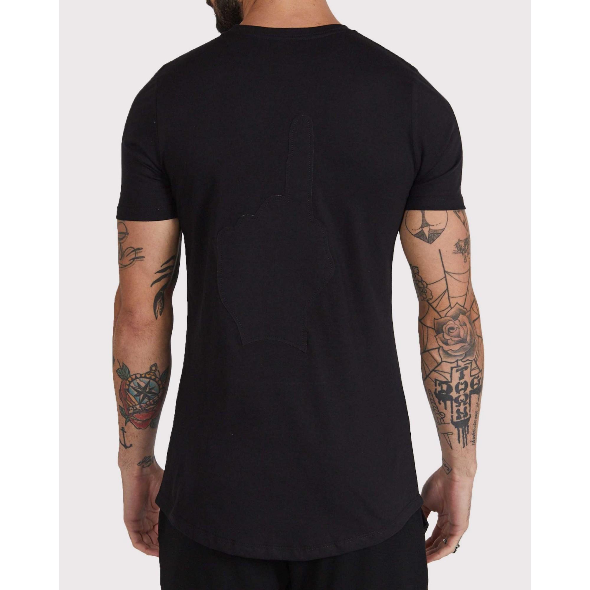 Camiseta Buh Costura Costas Black
