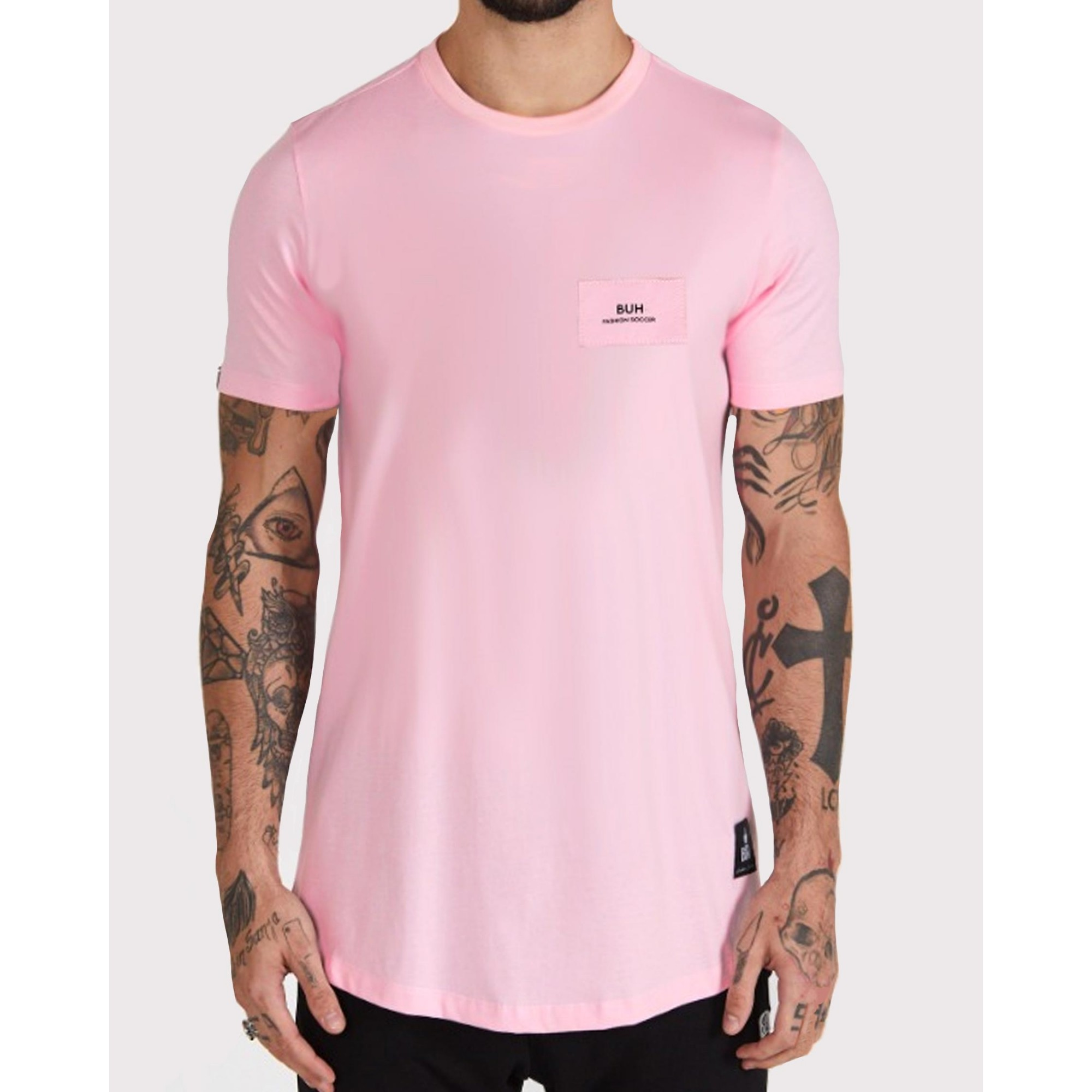 Camiseta Buh Costura Costas Rose