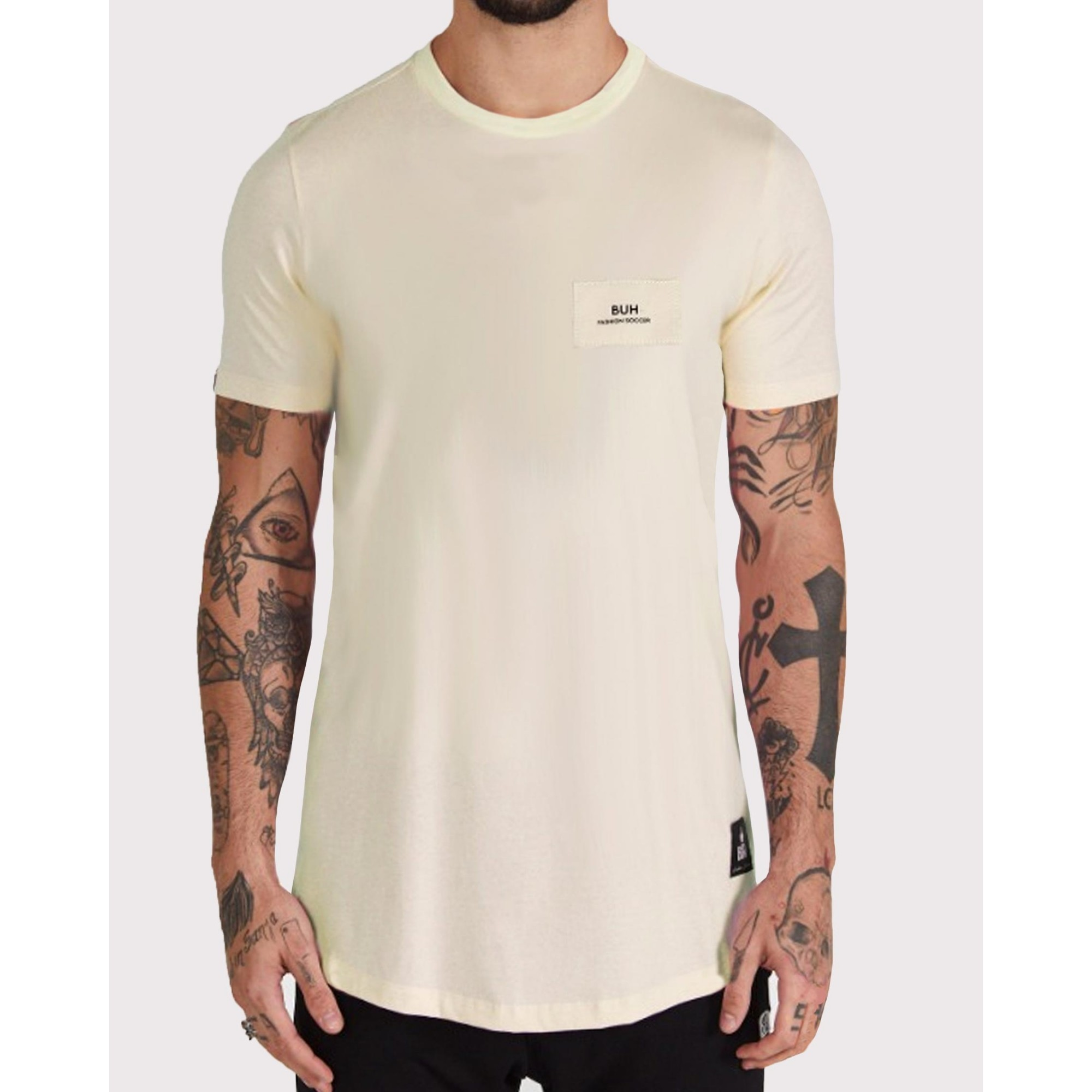 Camiseta Buh Costura Costas Yellow