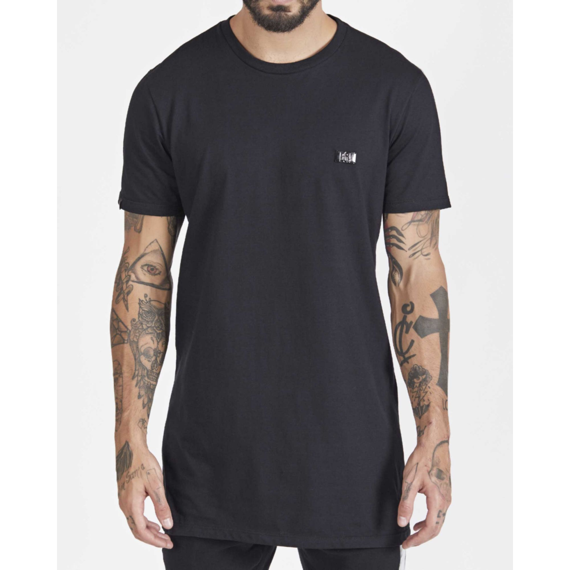 Camiseta Buh Cotton Plaquinha Black