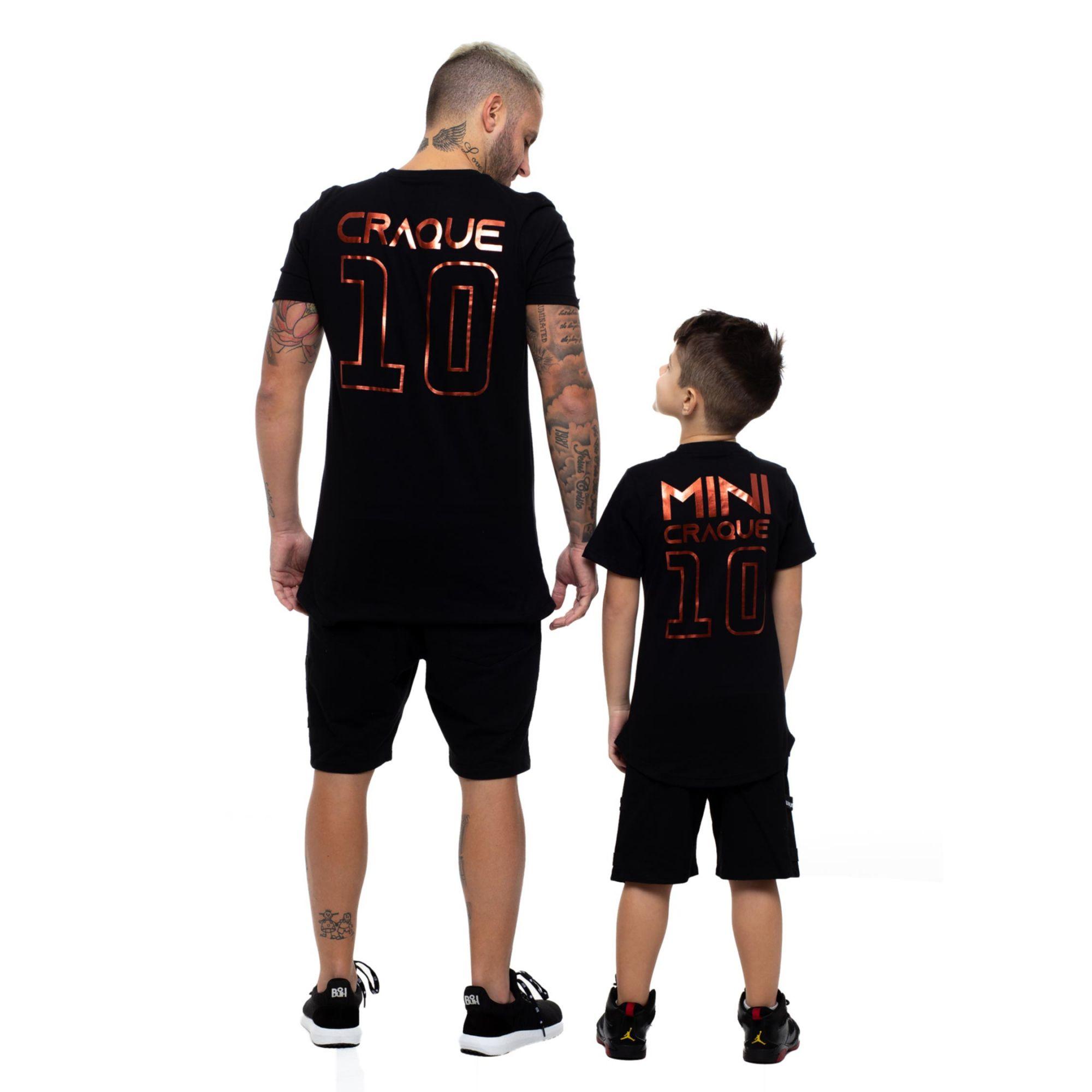 Camiseta Buh Craque e Mini Craque Black