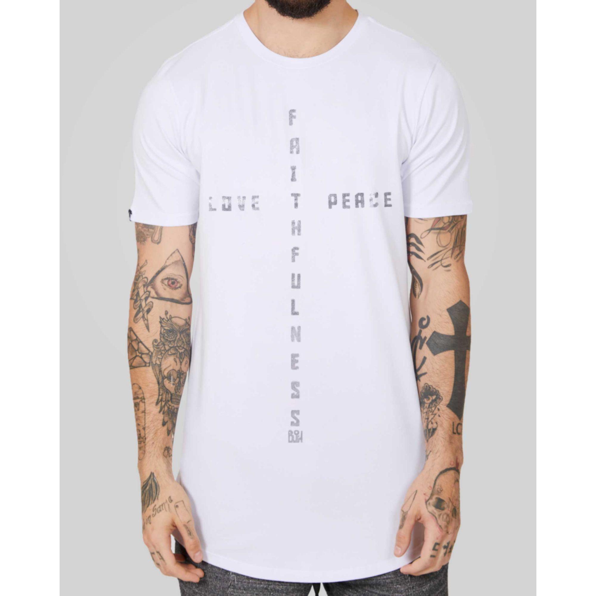 Camiseta Buh Cross White
