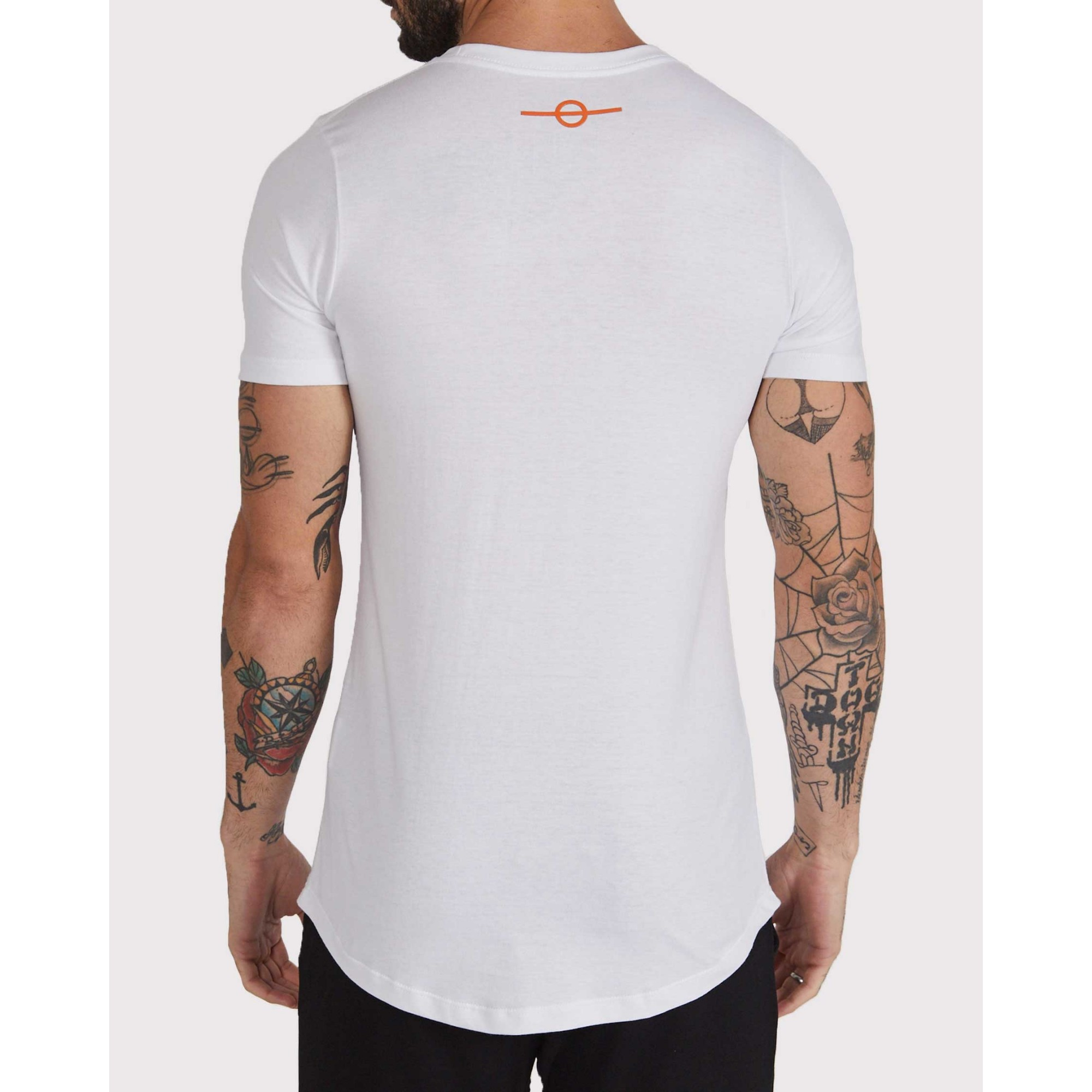 Camiseta Buh Cruz Strass Golden White