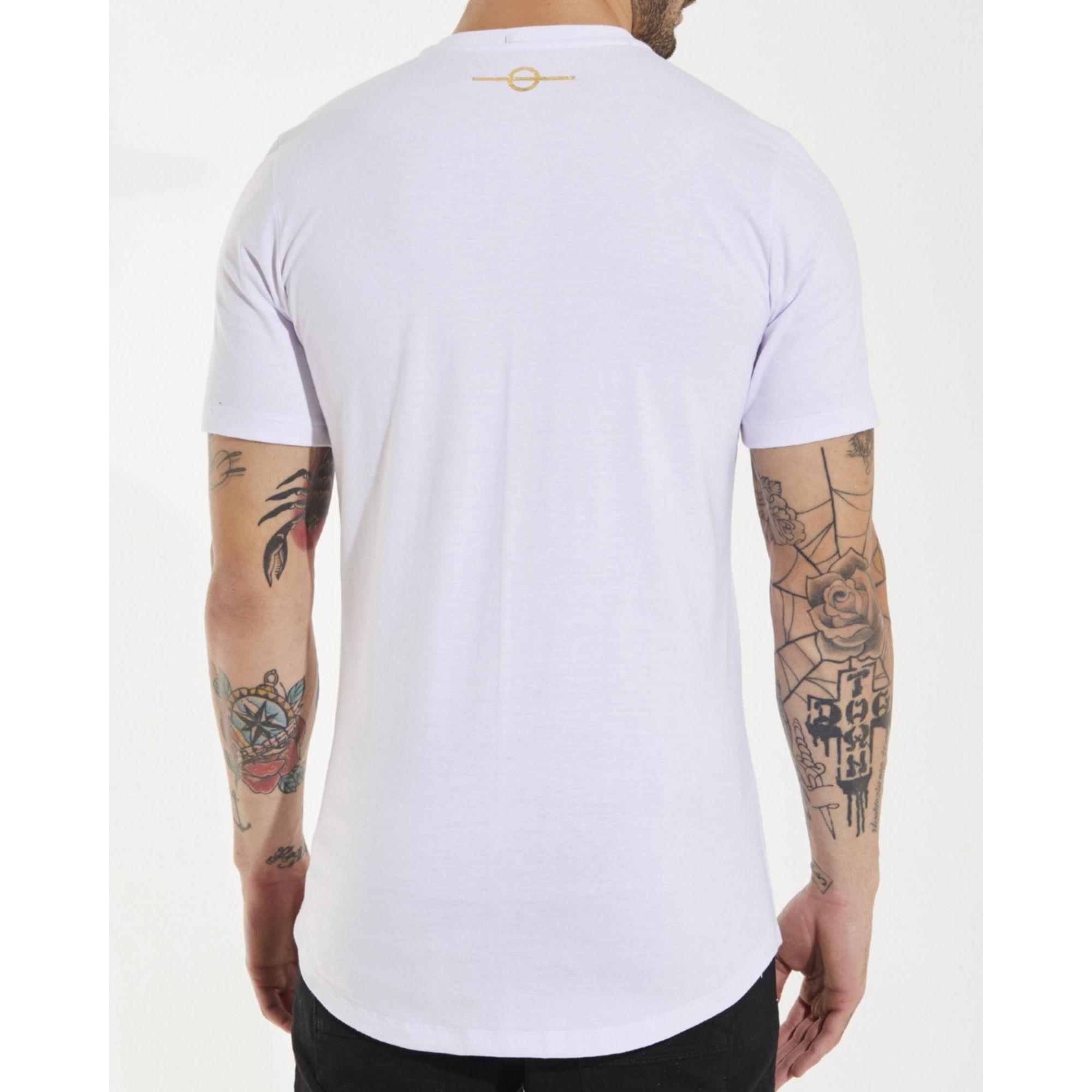 Camiseta Buh Dedo Ouro White