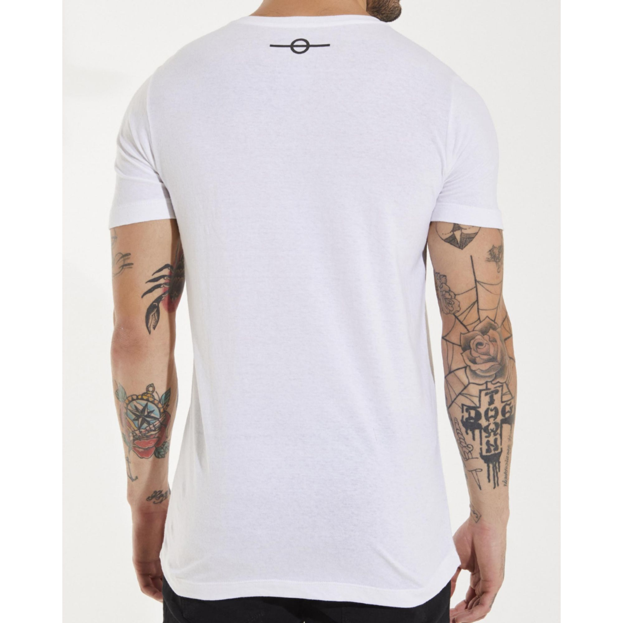 Camiseta Buh Dedo Strass White
