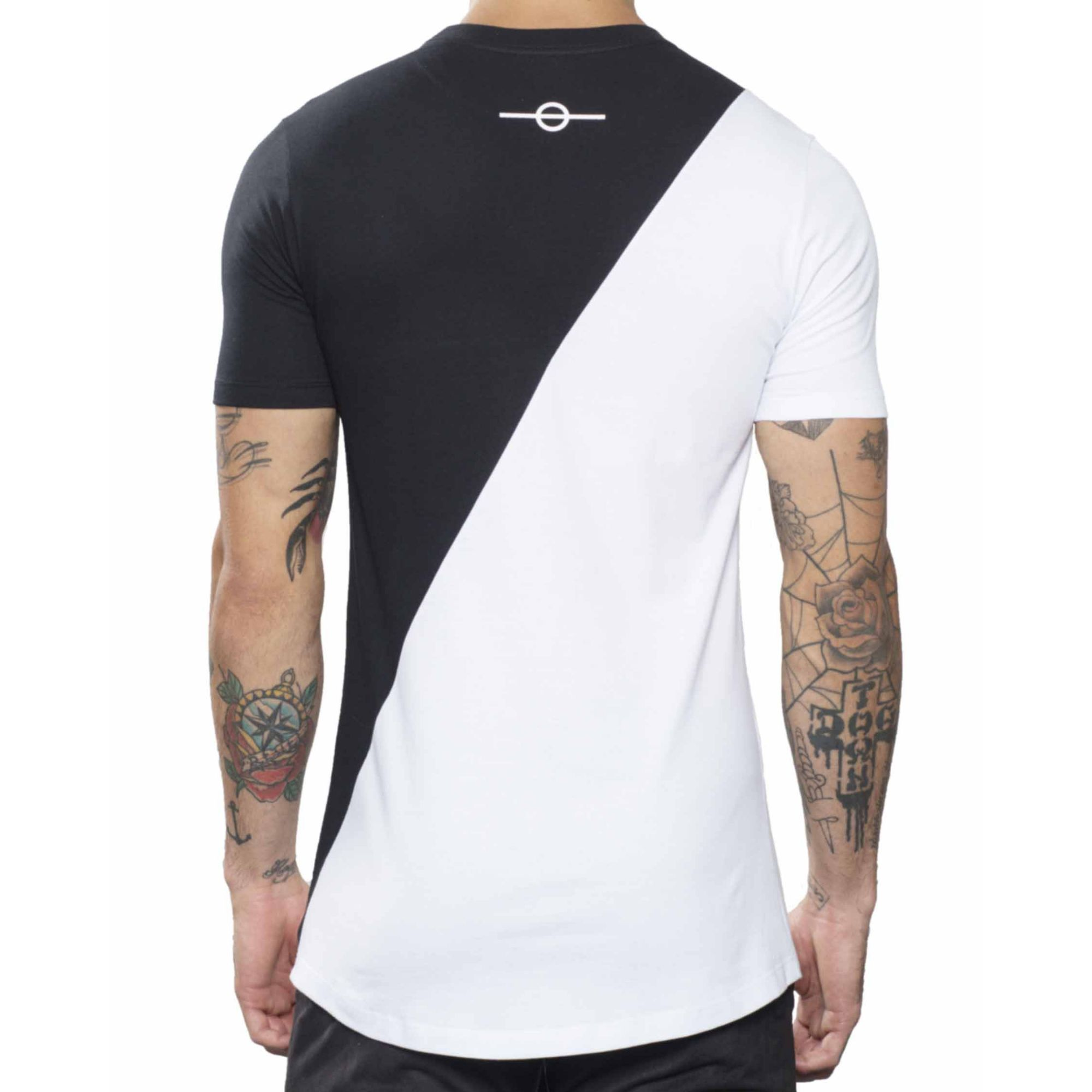 Camiseta Buh Diagonal Black & White
