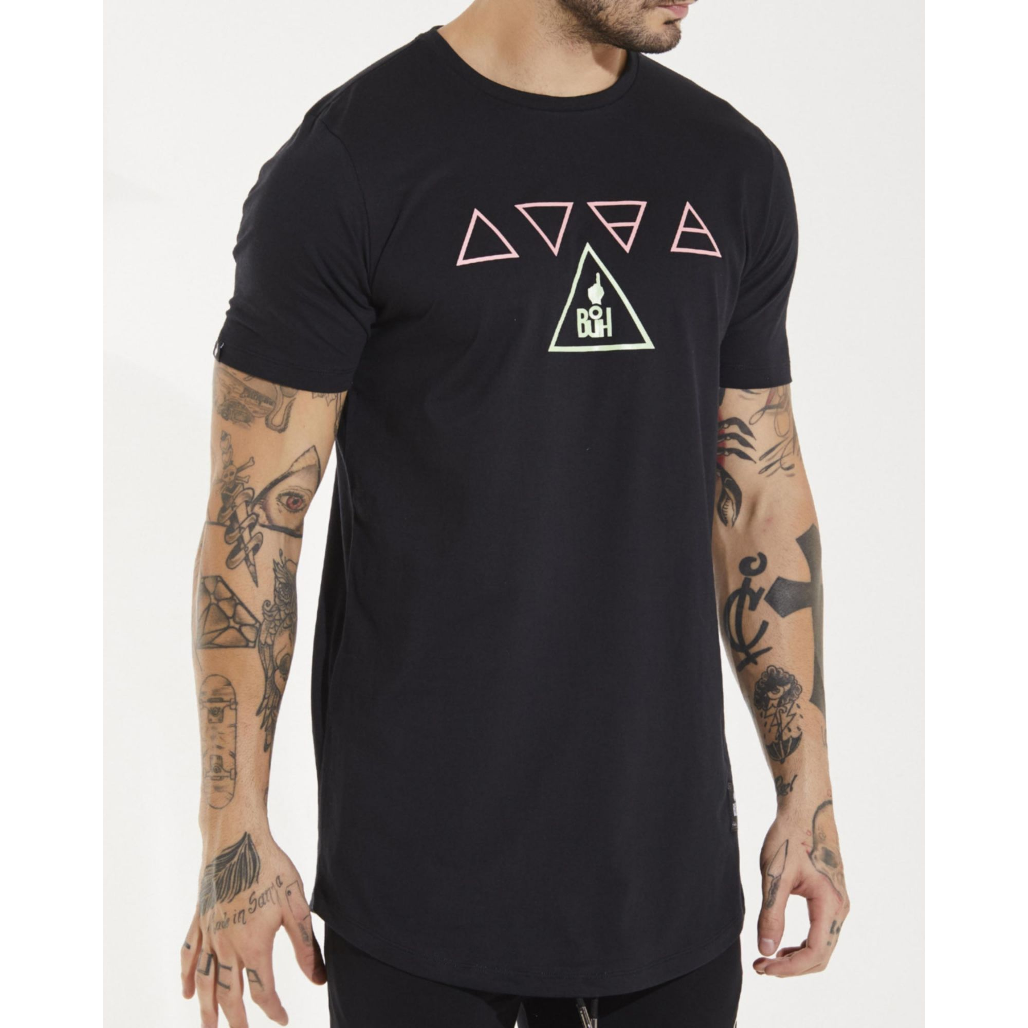 Camiseta Buh Elementos Candy Black