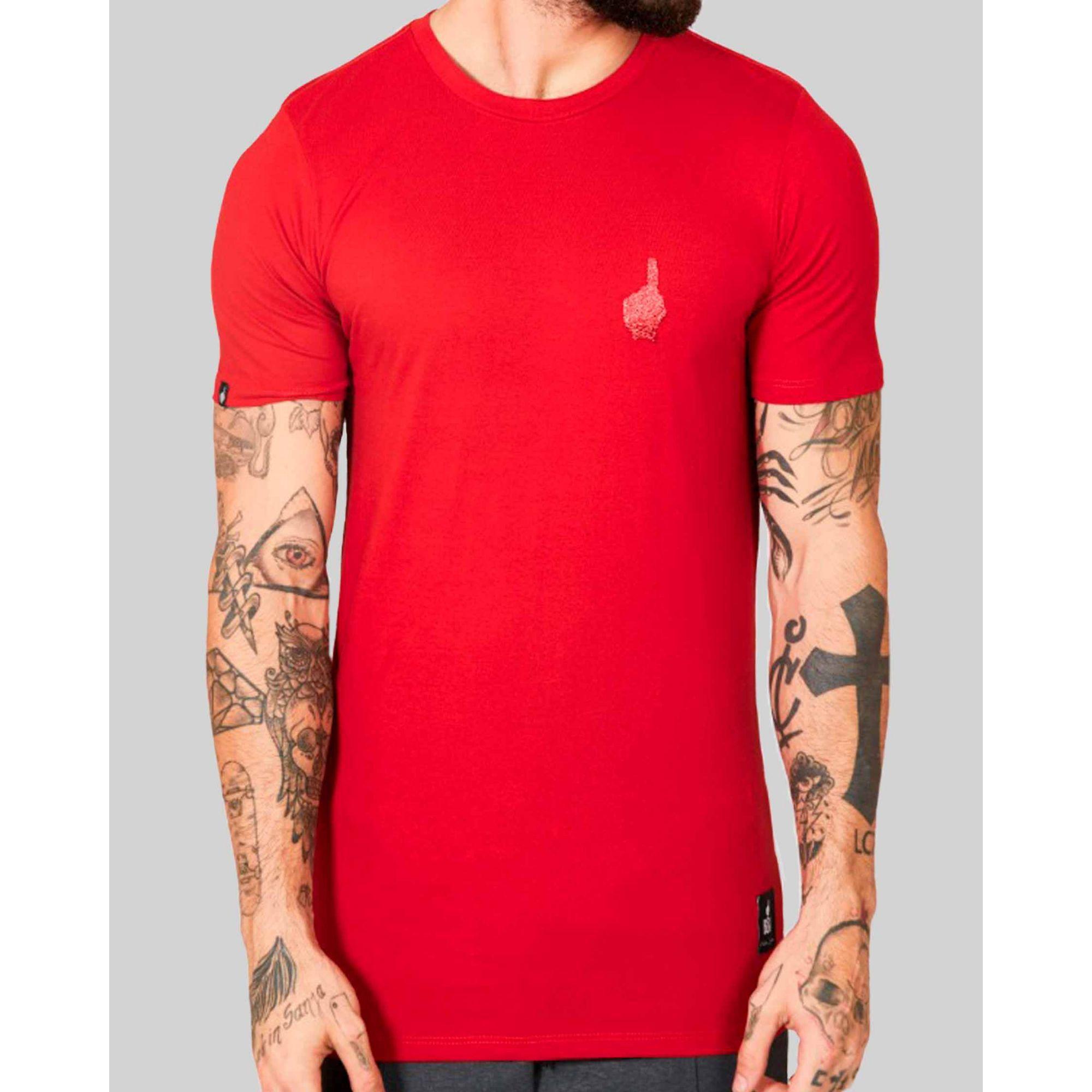 Camiseta Buh Esfera Dedo Red