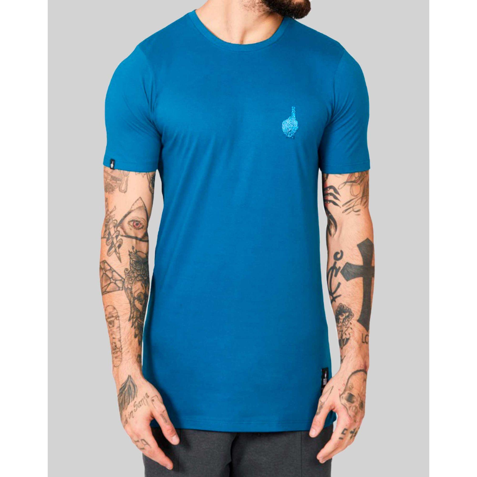 Camiseta Buh Esferas Dedo Blue