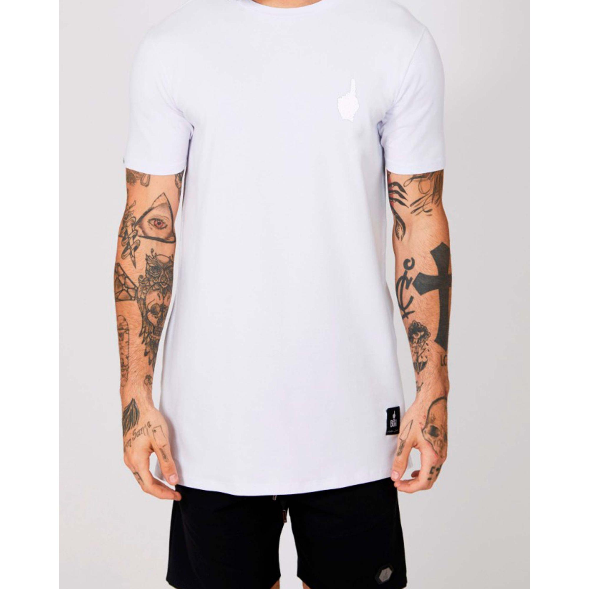 Camiseta Buh Esferas Dedo White
