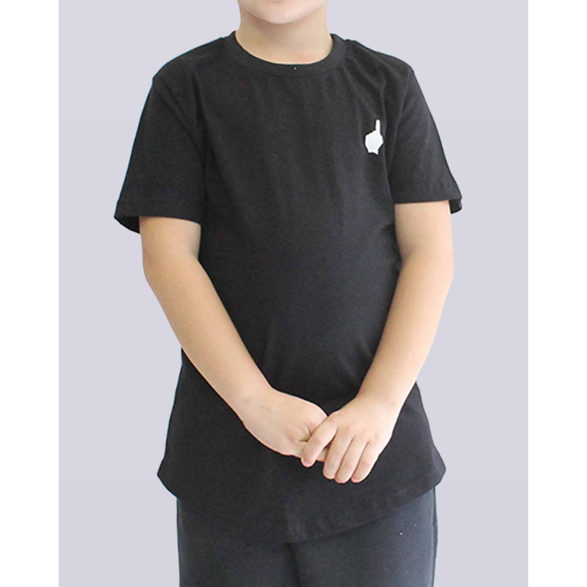 Camiseta Buh Essential Logo Black Kids