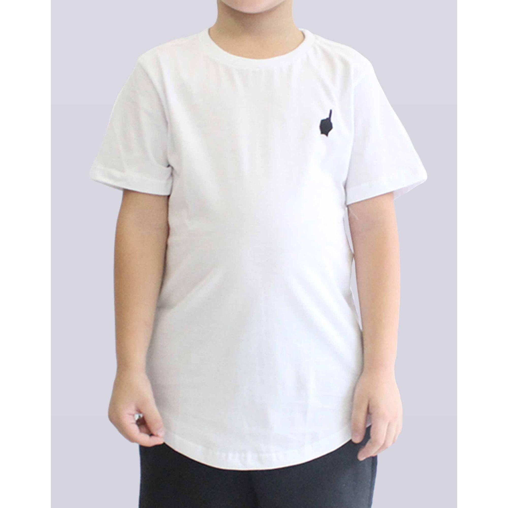Camiseta Buh Essential Logo White Kids