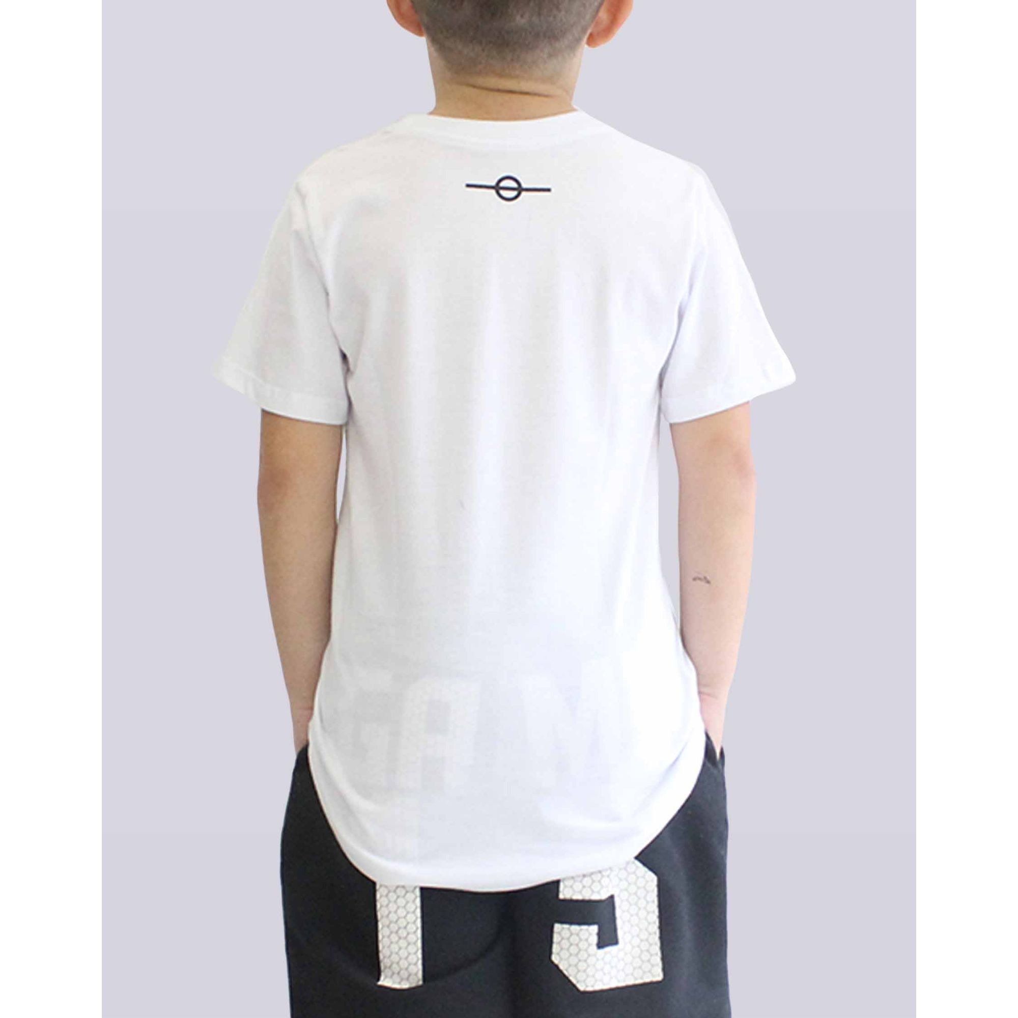 Camiseta Buh Essential Logo White Kids
