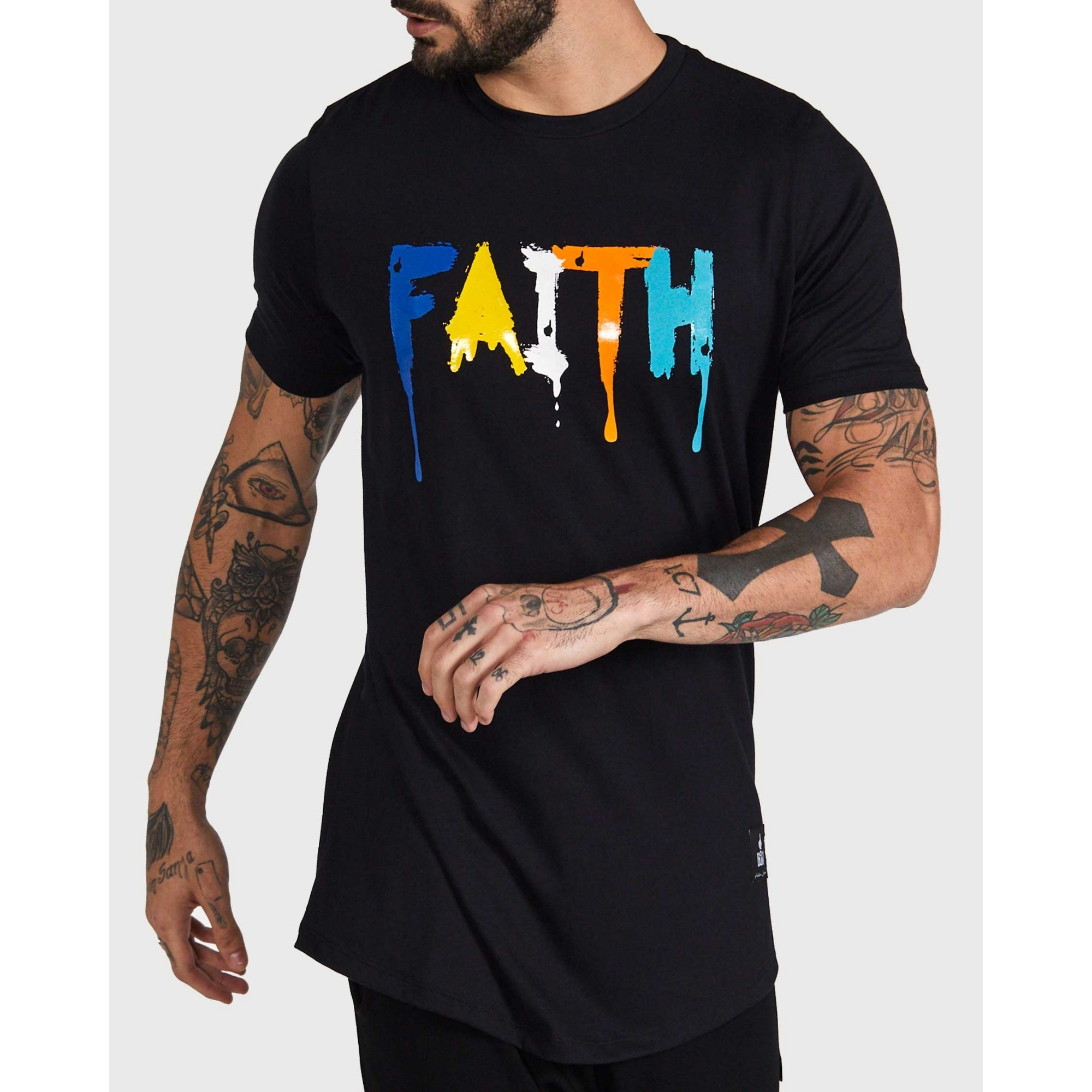 Camiseta Buh Faith Derretida Black