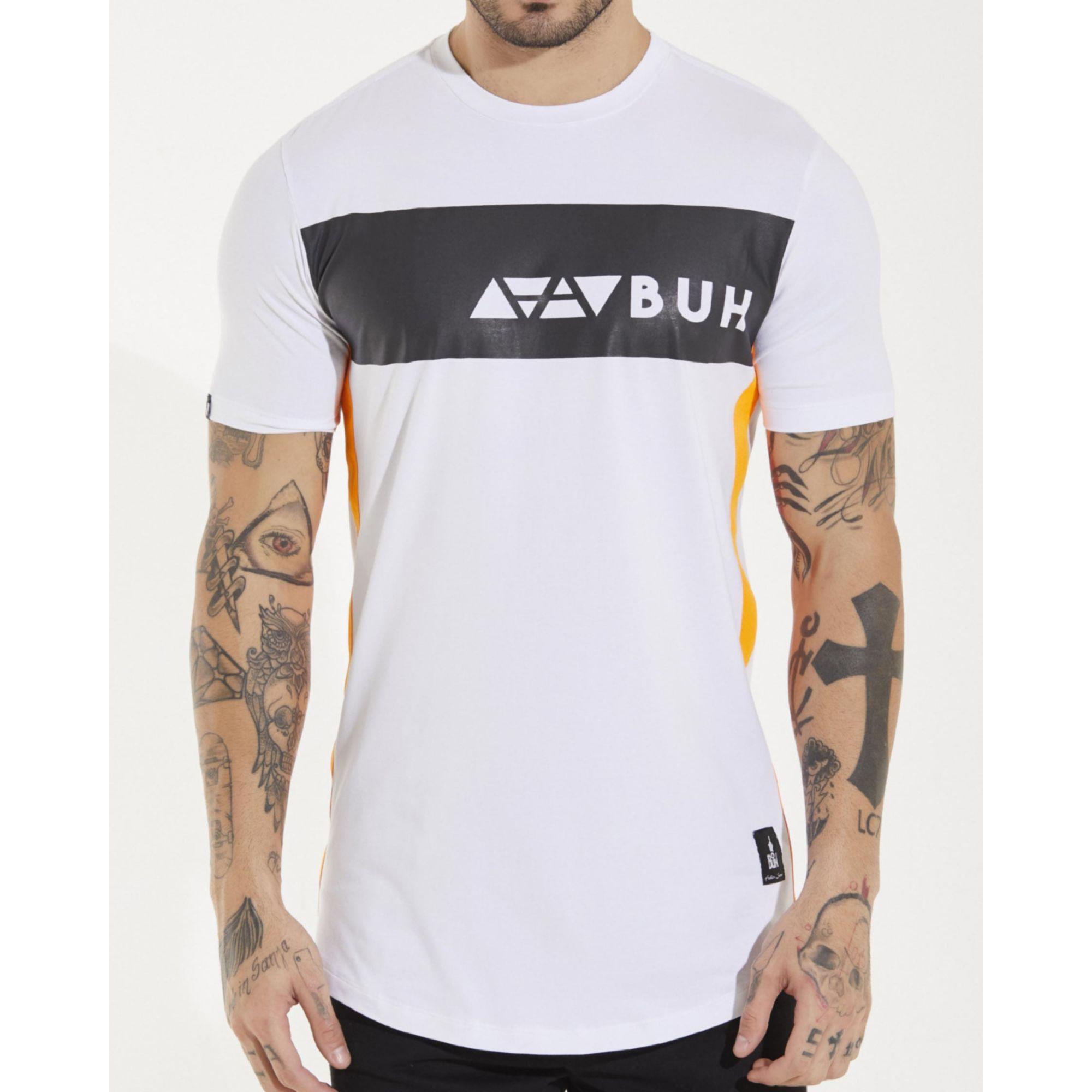 Camiseta Buh Faixa Elementos White