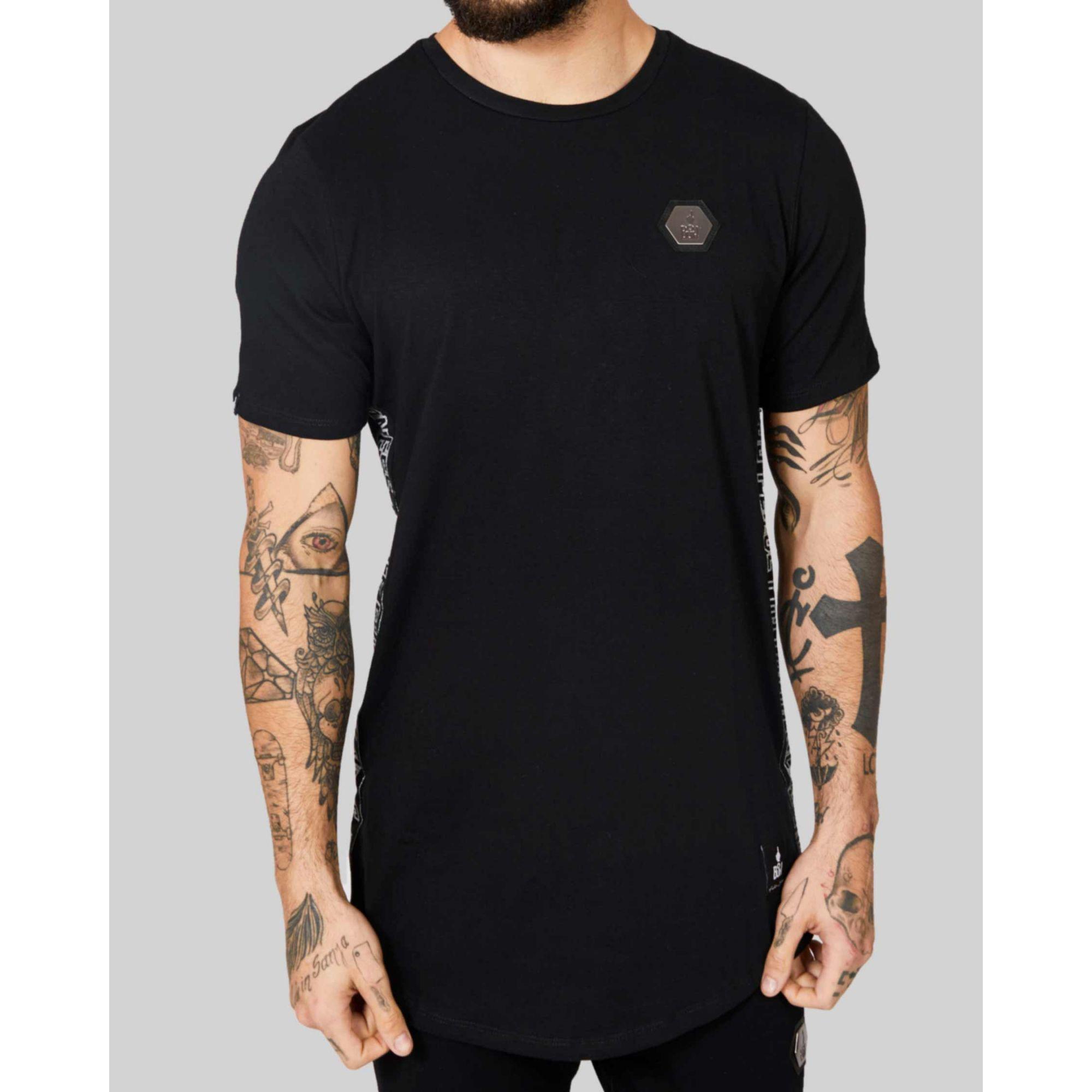 Camiseta Buh Faixa Lateral Black