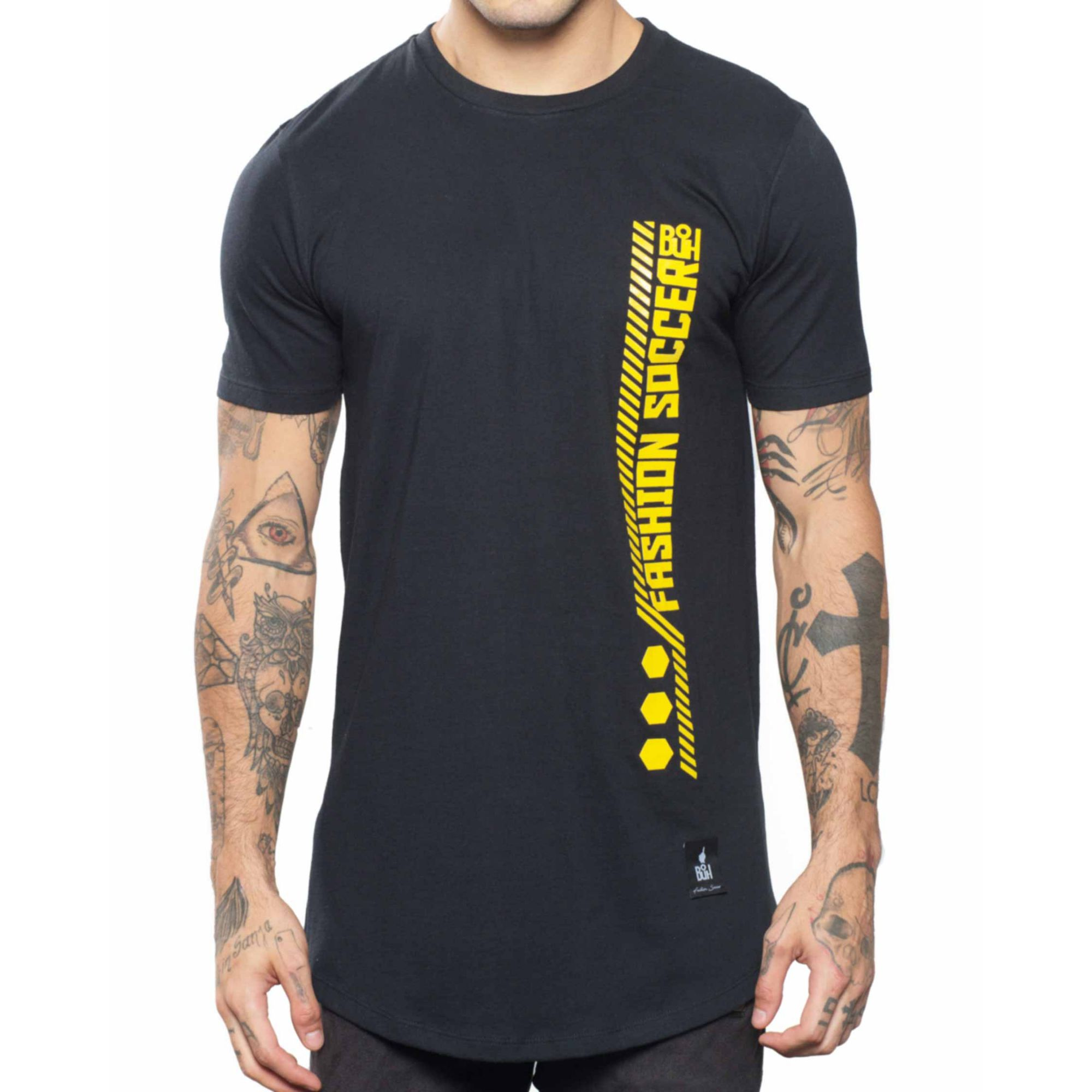 Camiseta Buh Fashion Soccer Zíper Black