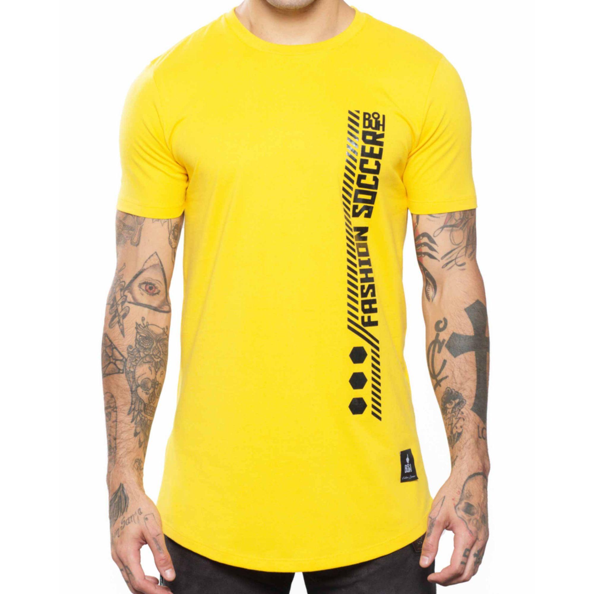 Camiseta Buh Fashion Soccer Zíper Yellow