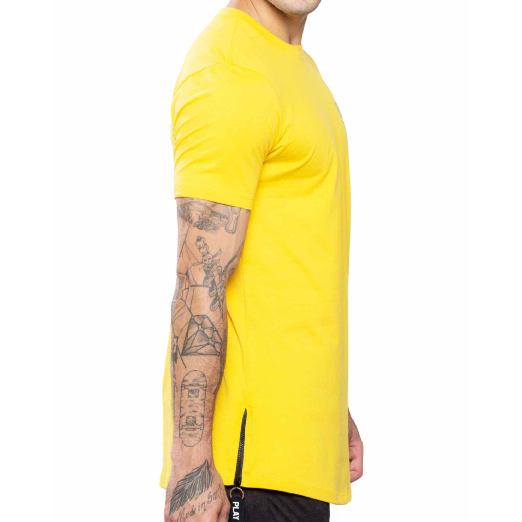 Camiseta Buh Fashion Soccer Zíper Yellow