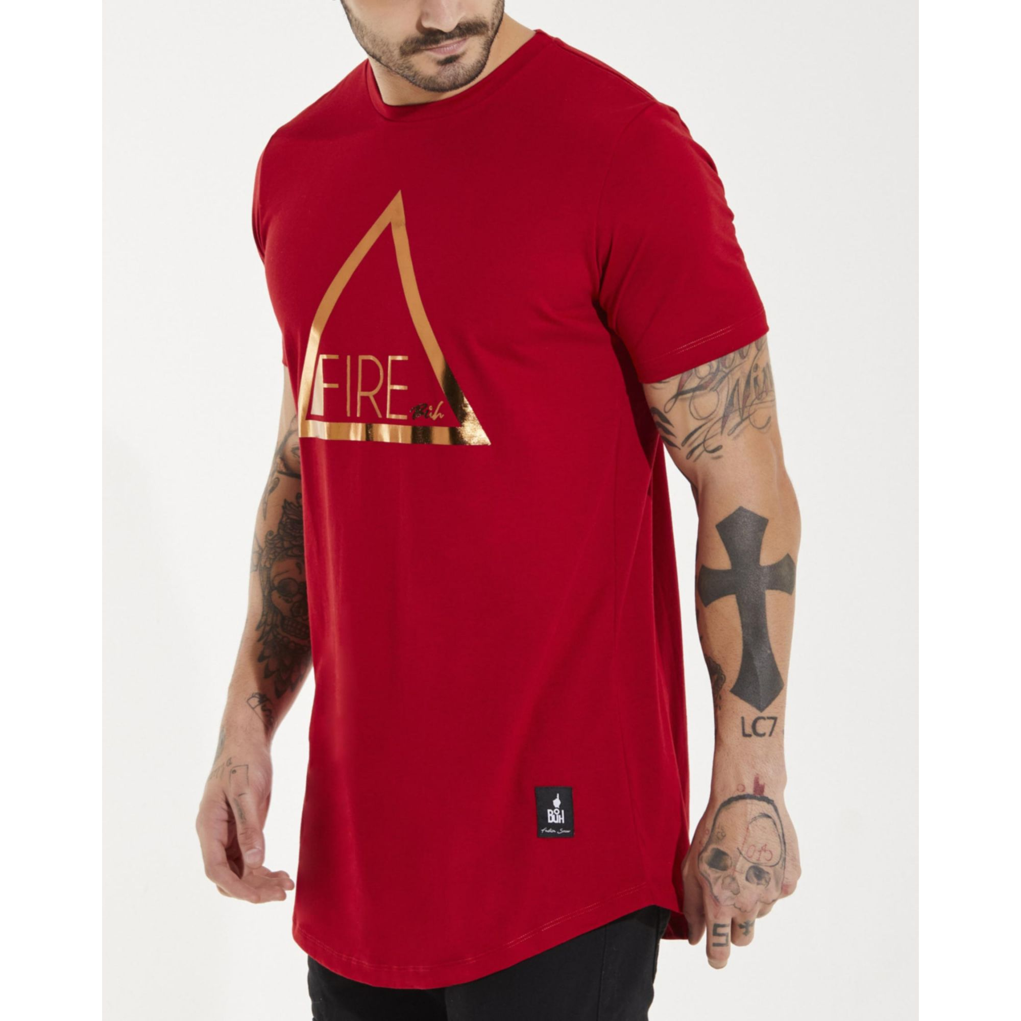 Camiseta Buh Fire Basic Red