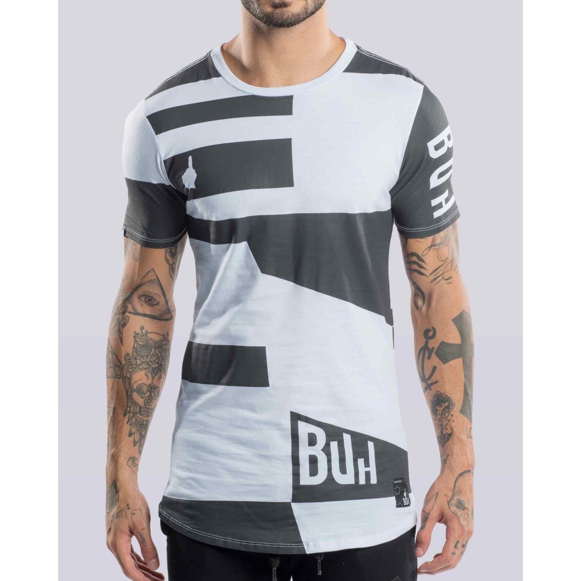 Camiseta Buh Flag White & Black