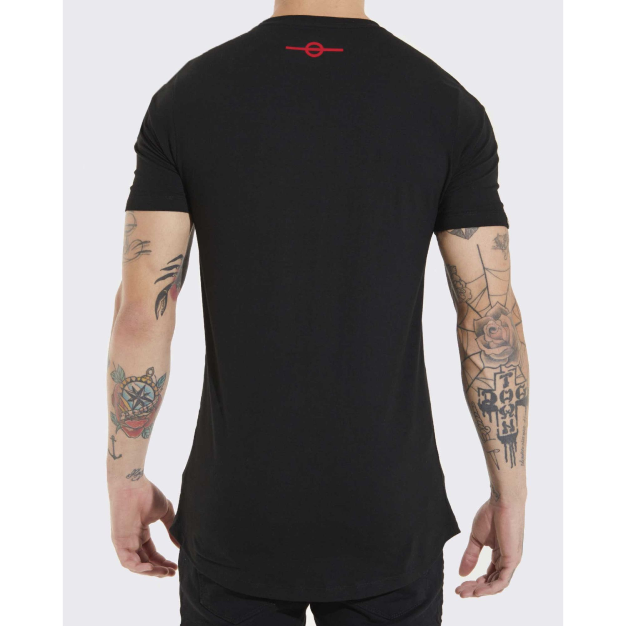 Camiseta Buh Foil Black & Red