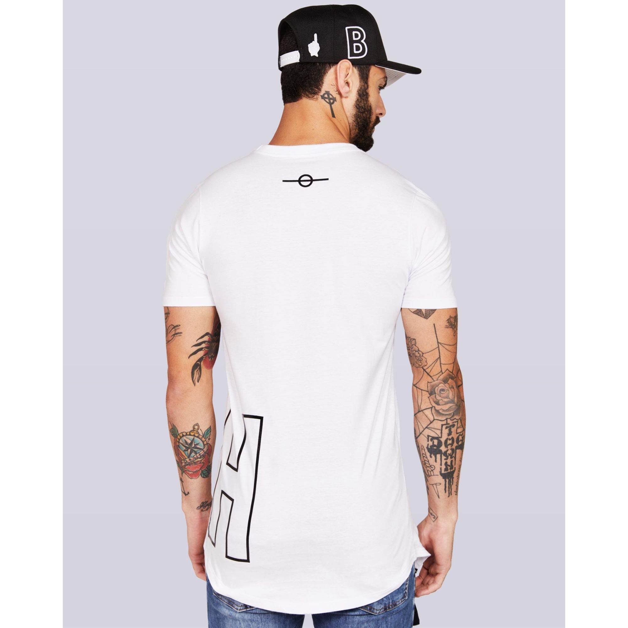 Camiseta Buh Front And Back White