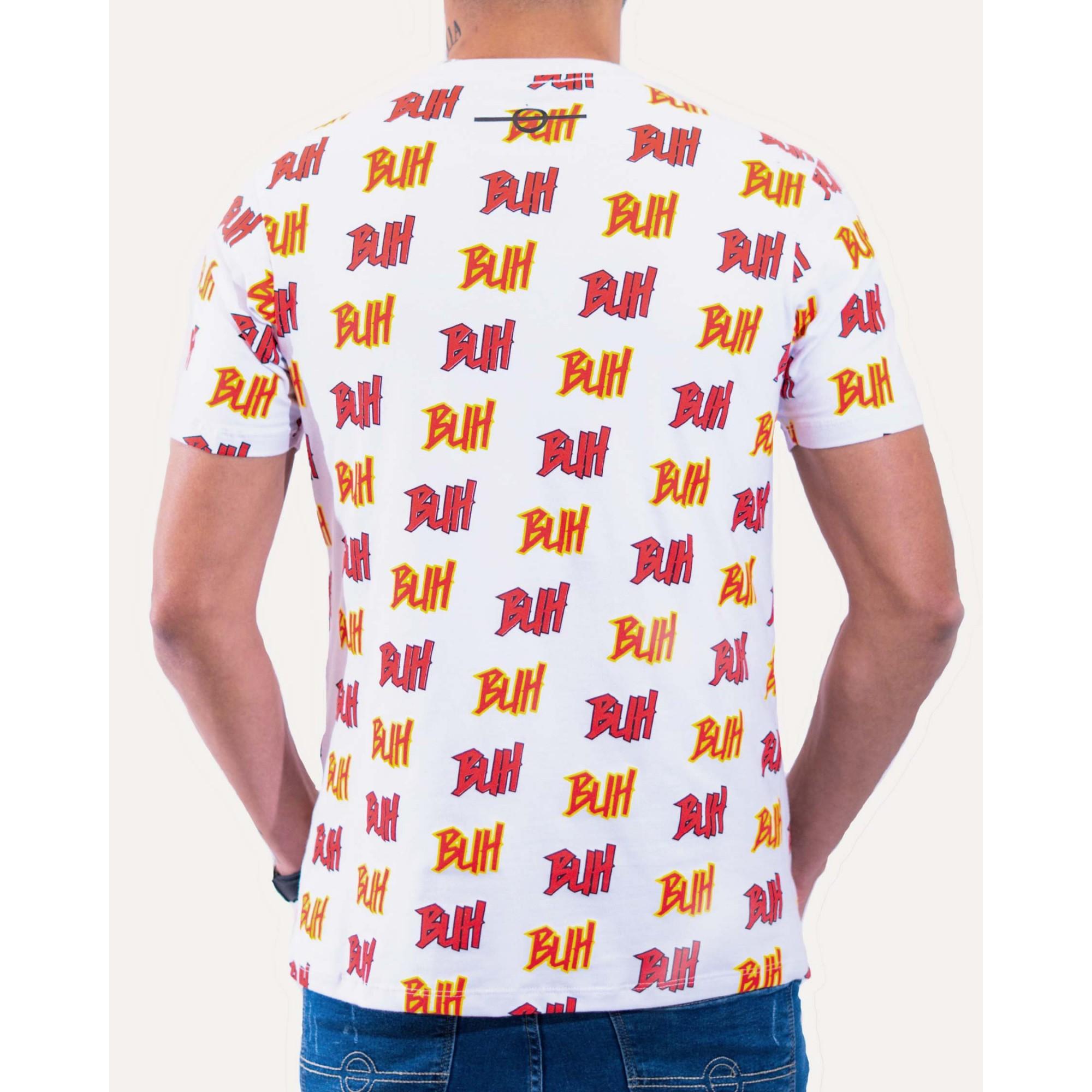 Camiseta Buh Full Logos White