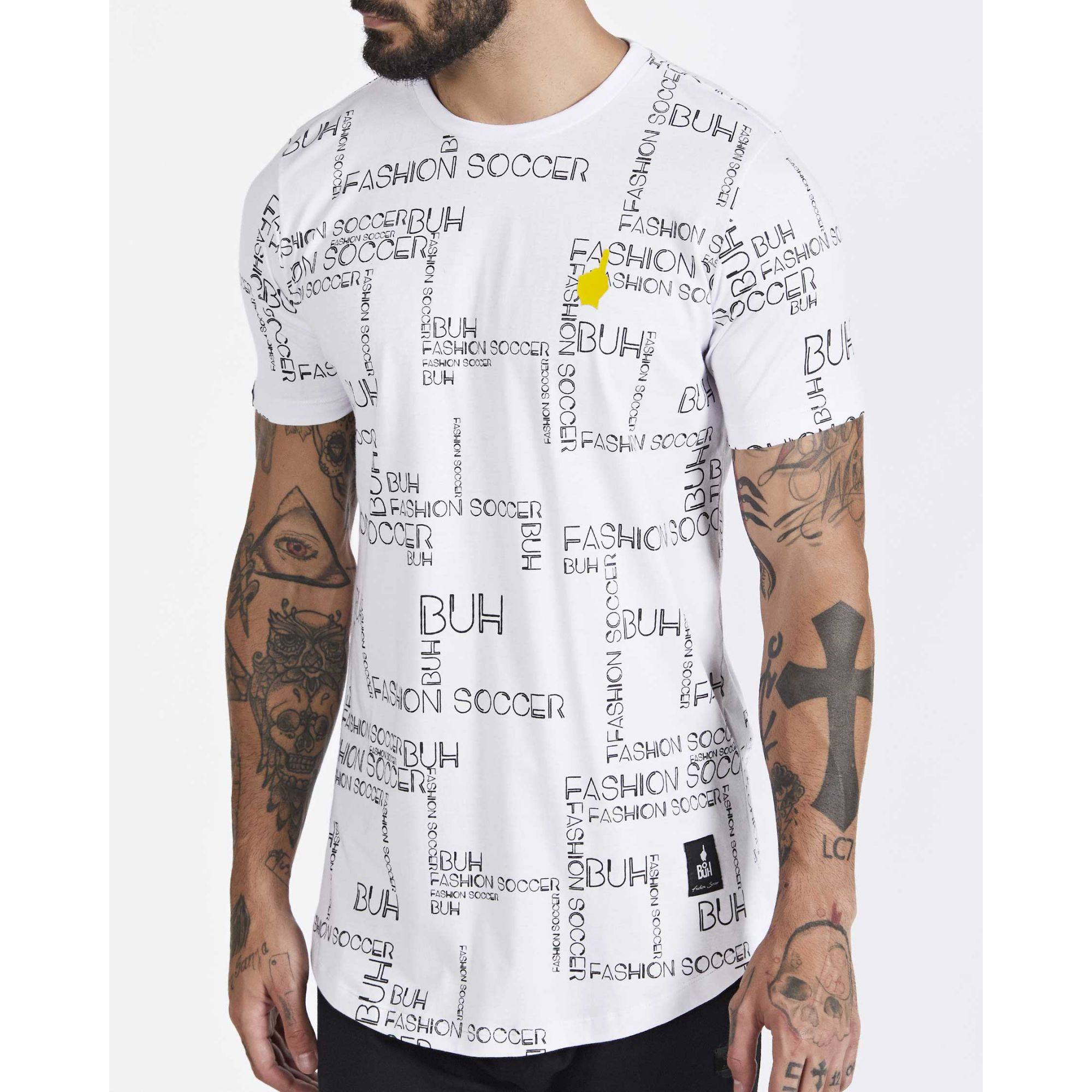 Camiseta Buh Full Maps White