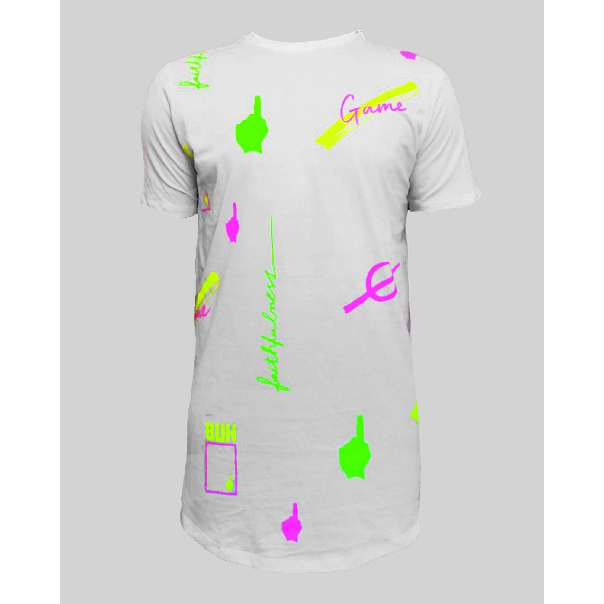 Camiseta Buh FullPrint Neon White