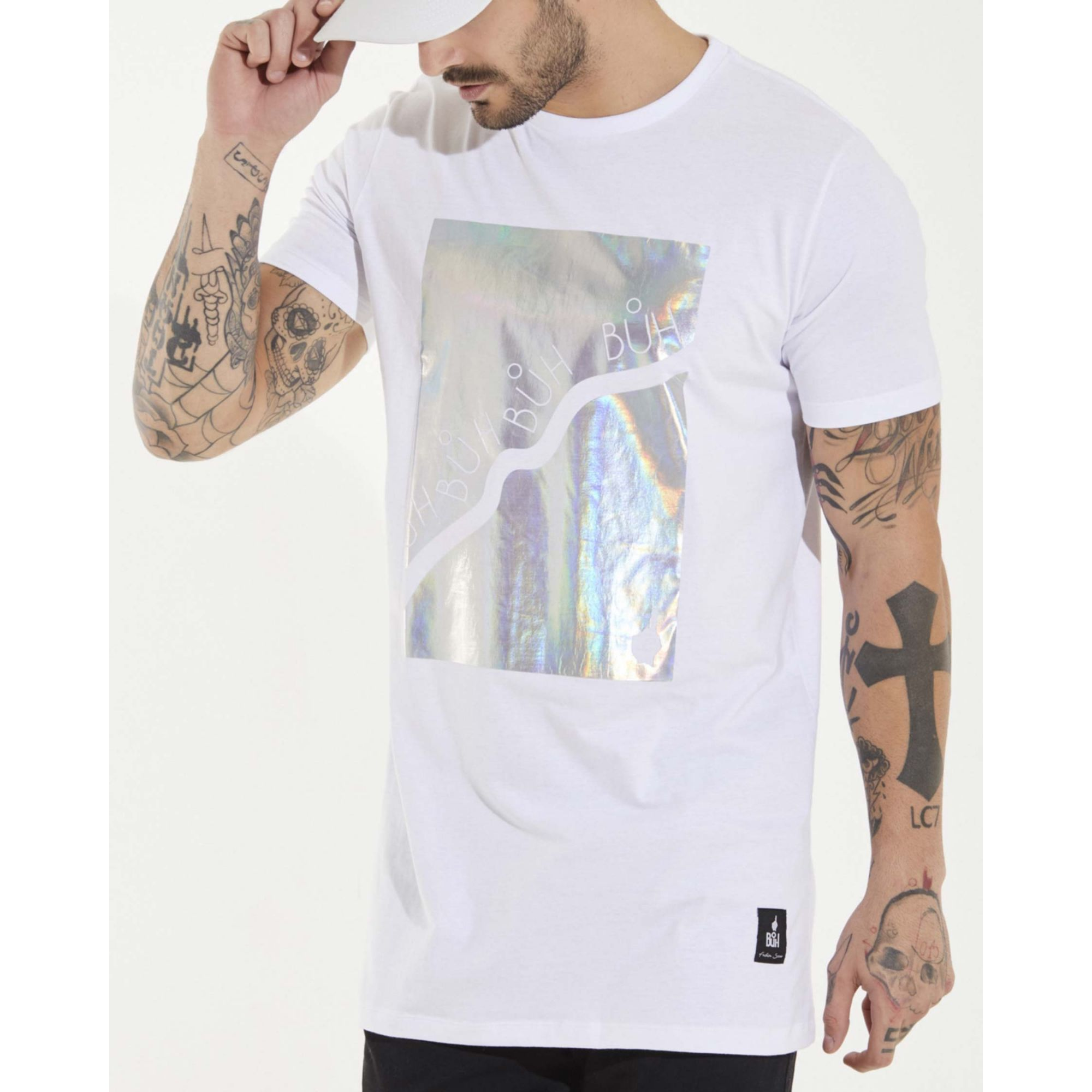 Camiseta Buh Furta Square White