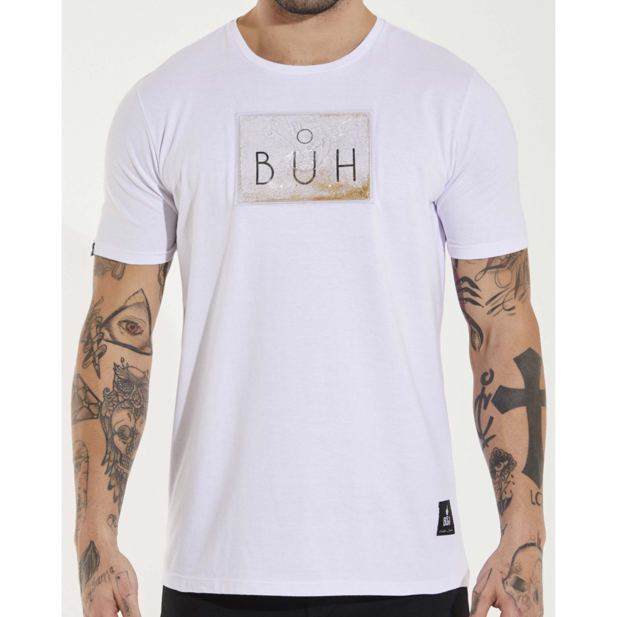 Camiseta Buh Glitter Gel White