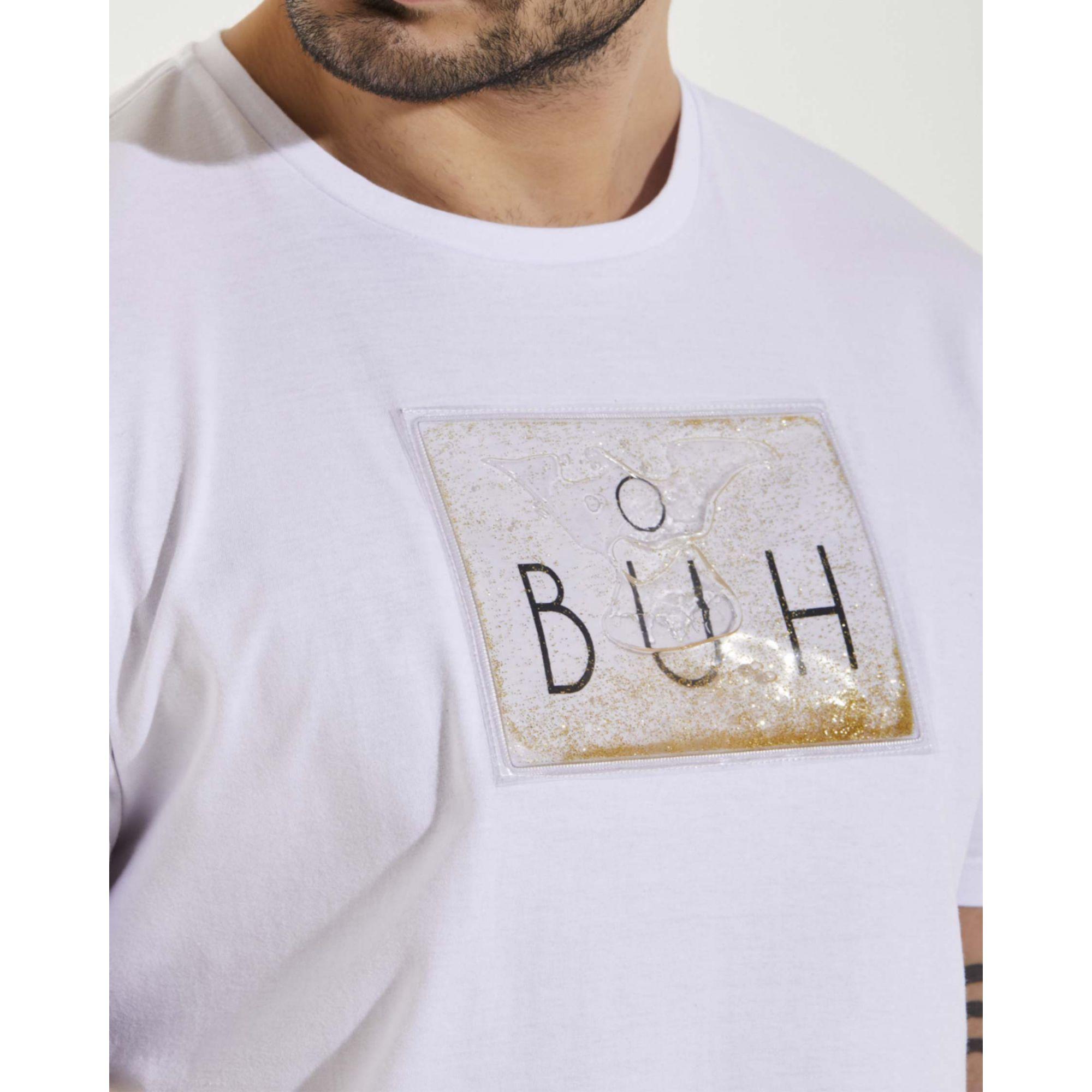 Camiseta Buh Glitter Gel White