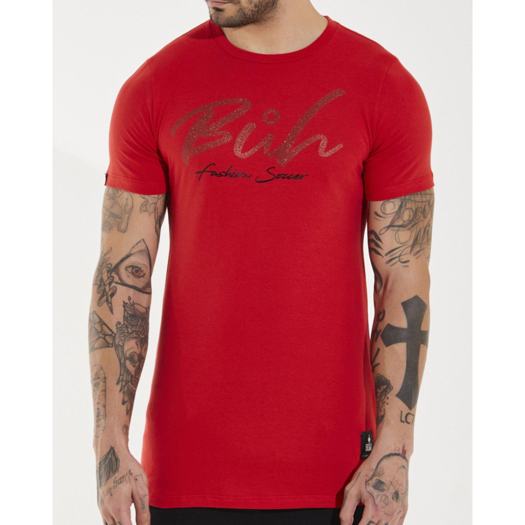 Camiseta Buh Glitter Red