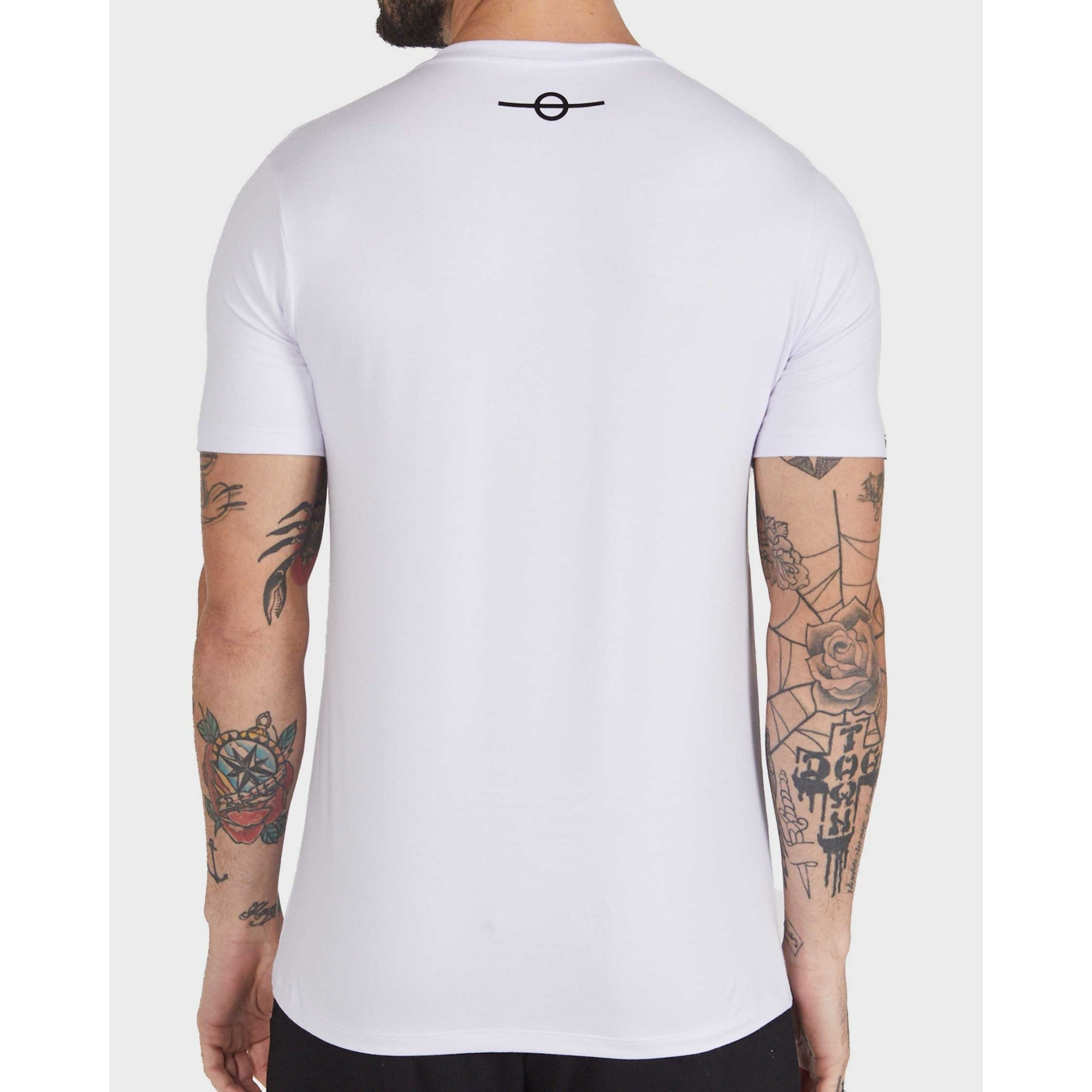 Camiseta Buh Glitter White & Rose