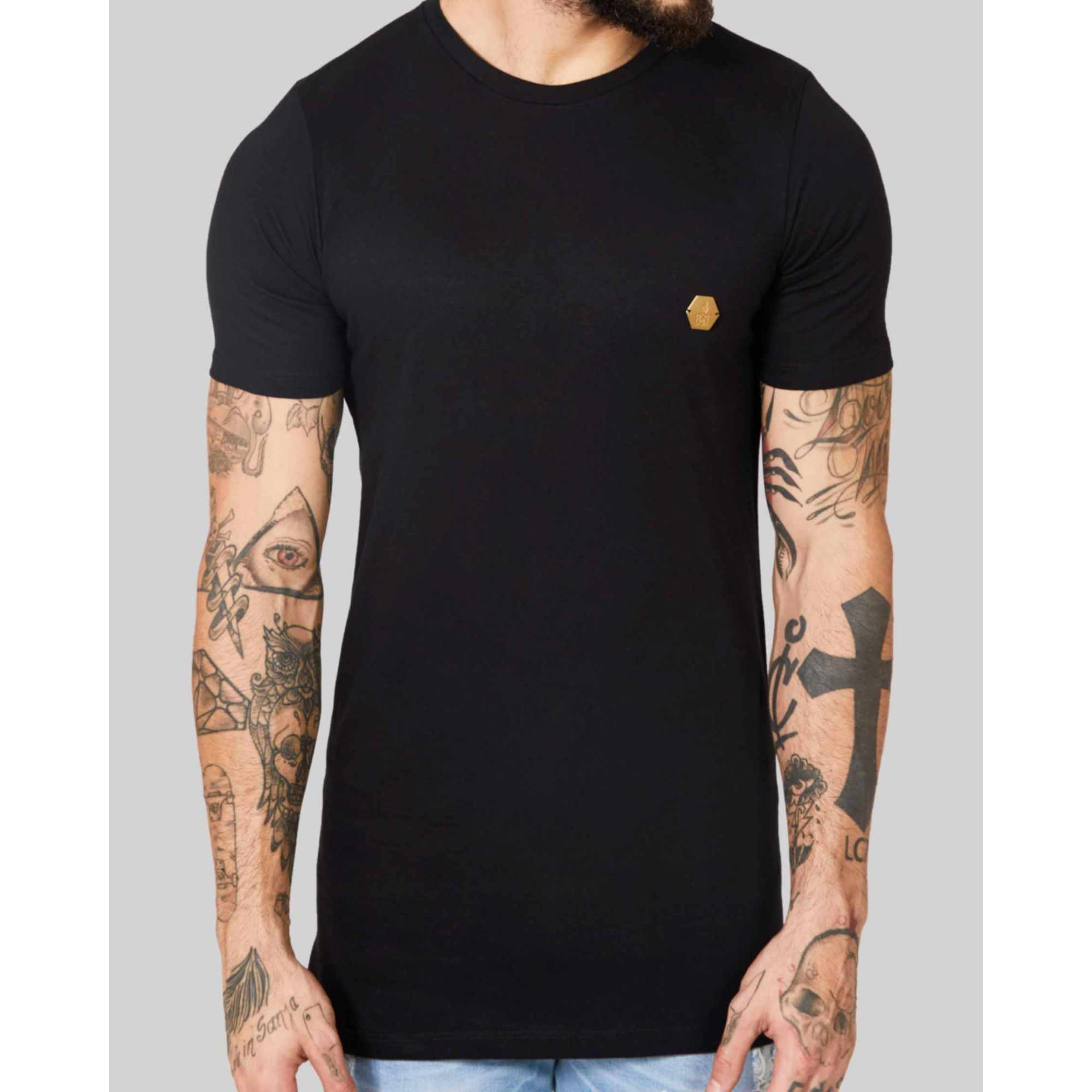 Camiseta Buh Golden Plate Black