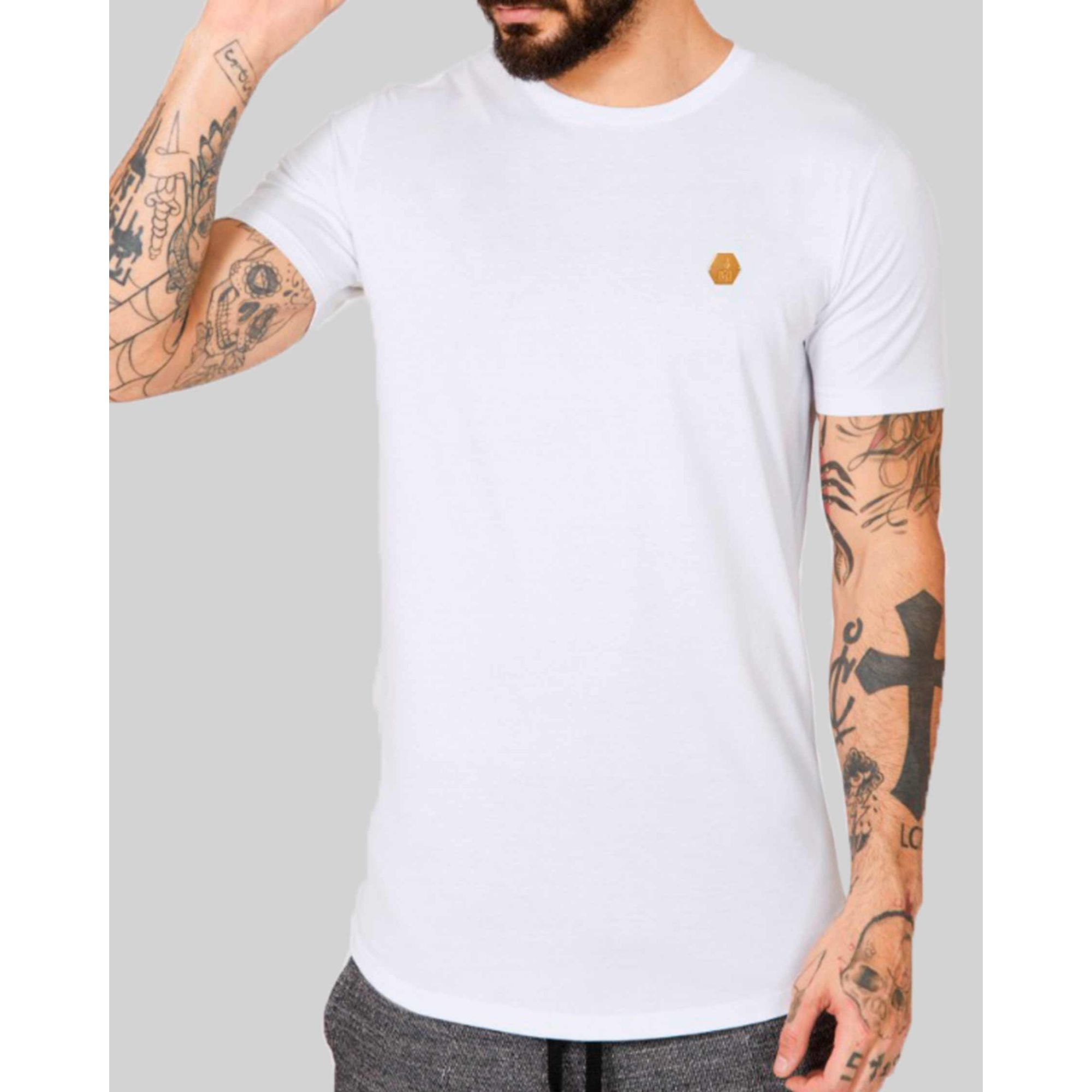 Camiseta Buh Golden Plate White