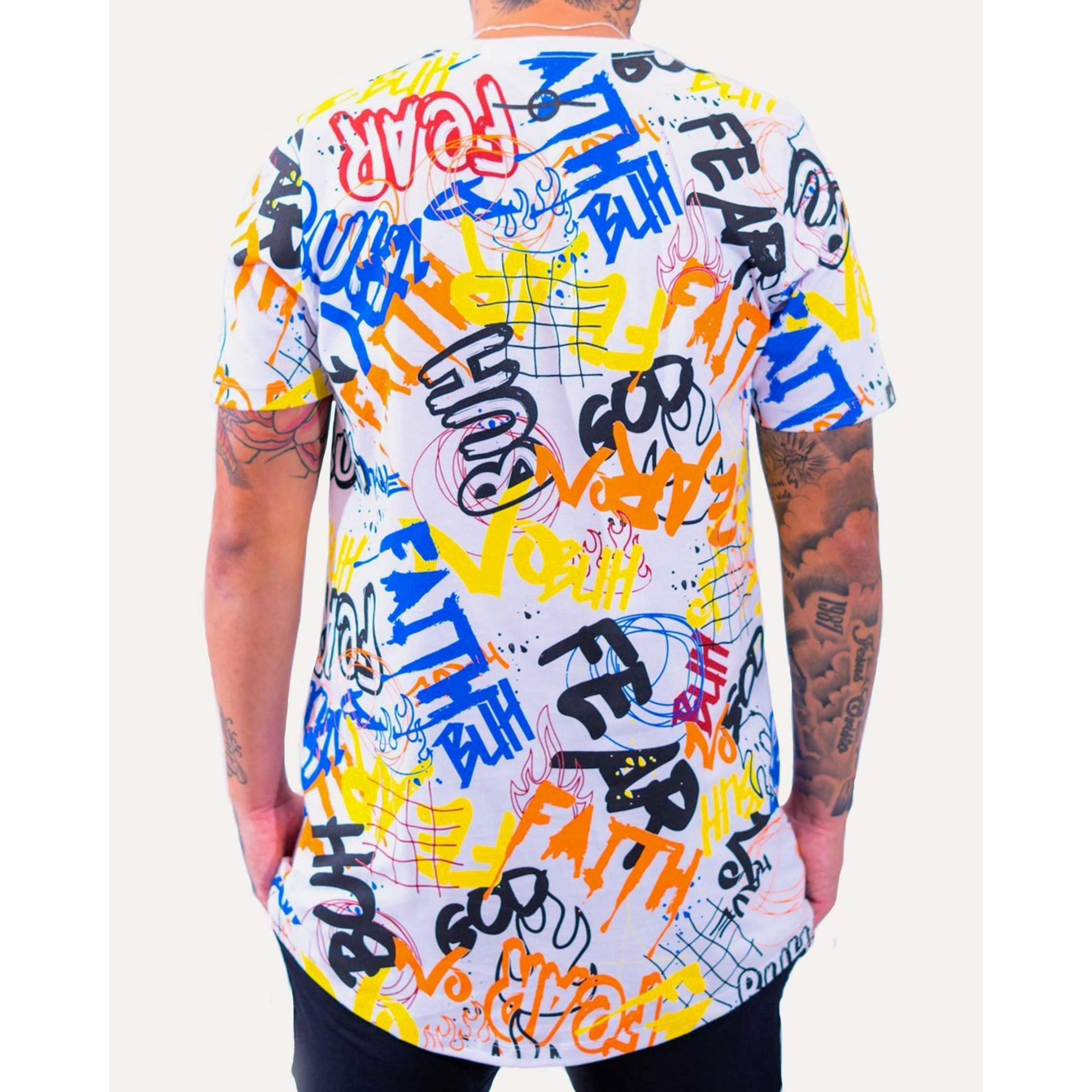 Camiseta Buh Grafitti White